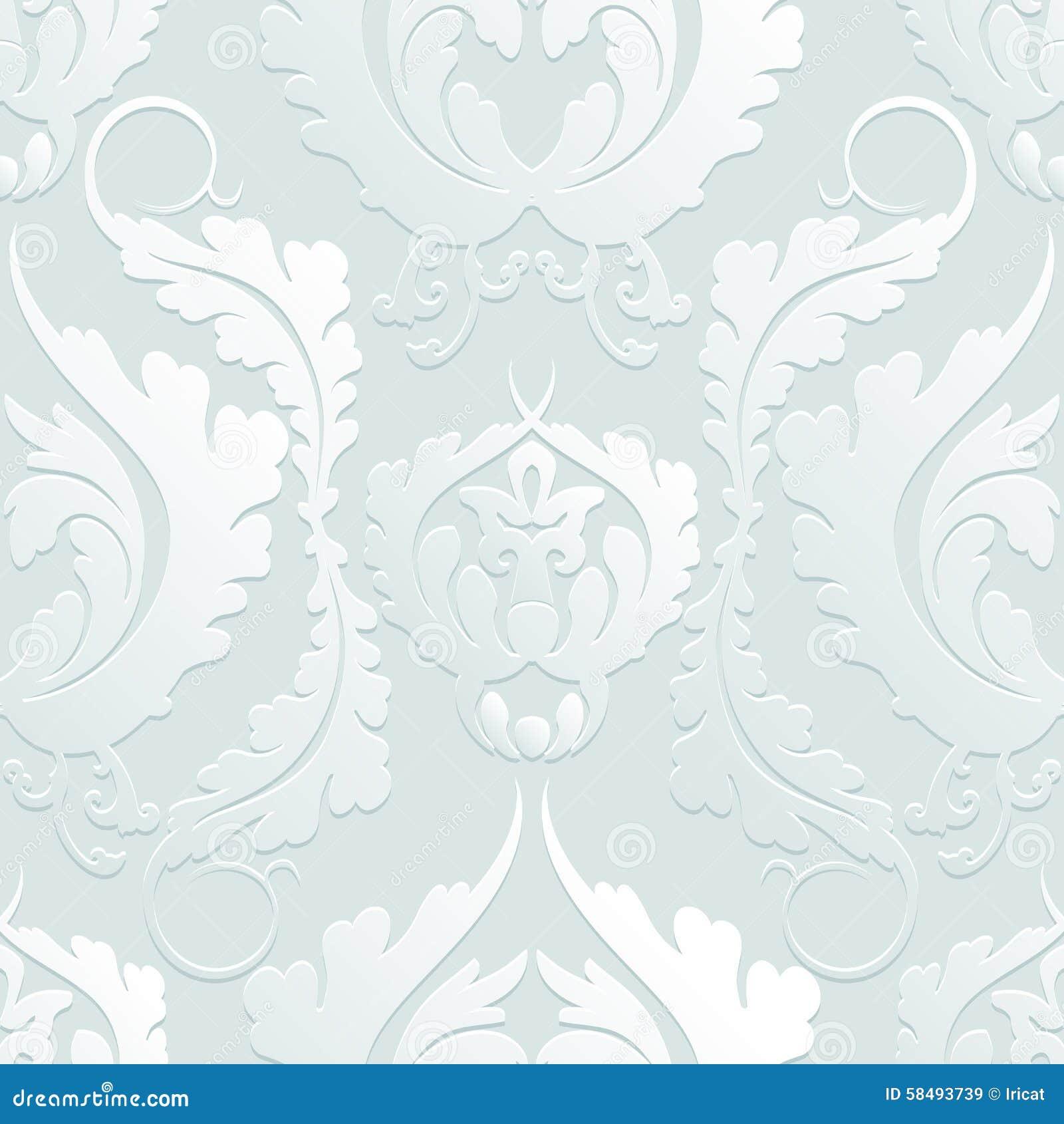 nahtloses blumen 3d muster damaskus elegante gro e blumen auf einem hellen hintergrund kann. Black Bedroom Furniture Sets. Home Design Ideas