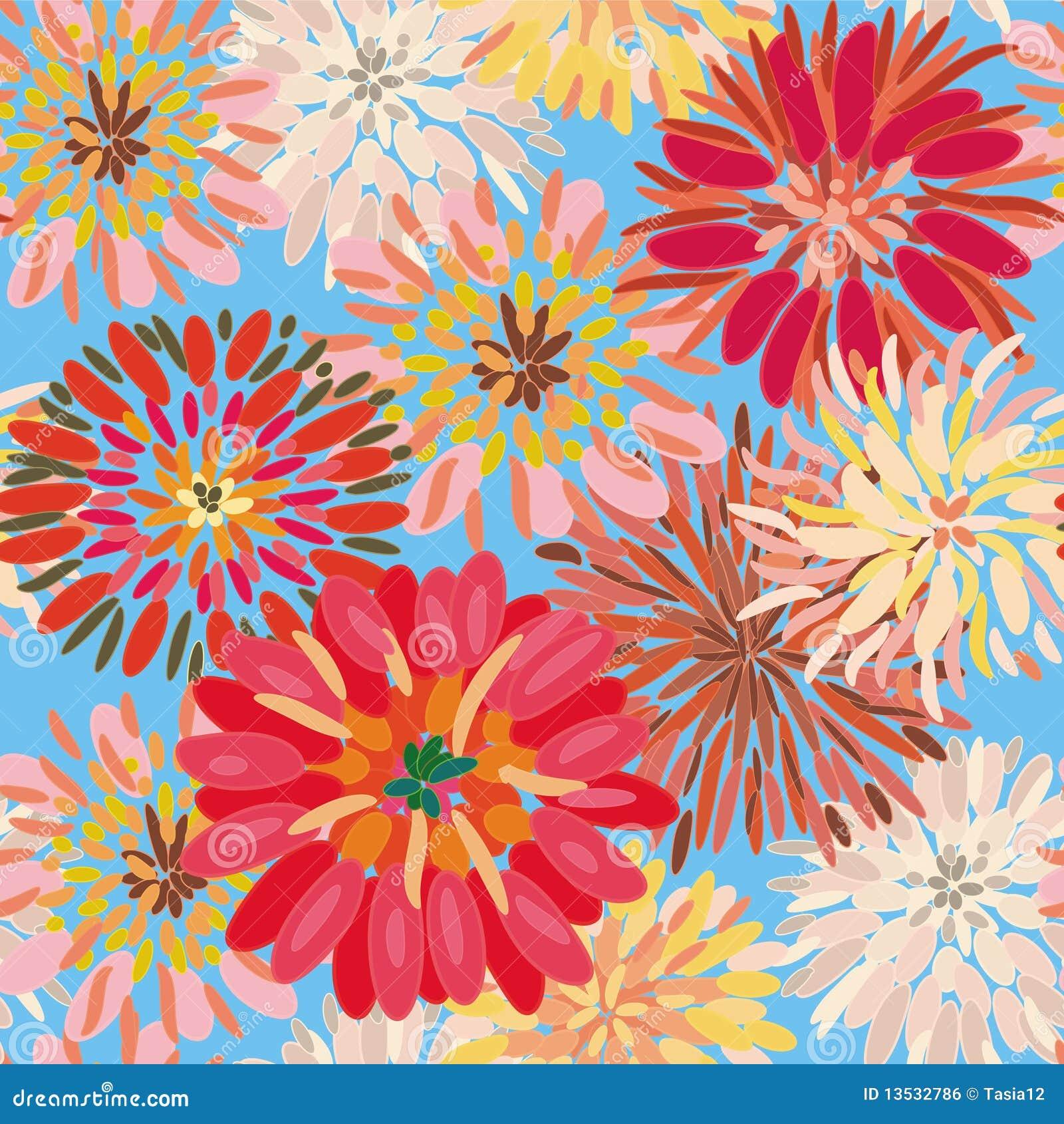 Nahtloses Blumenmuster mit großer Dahlie