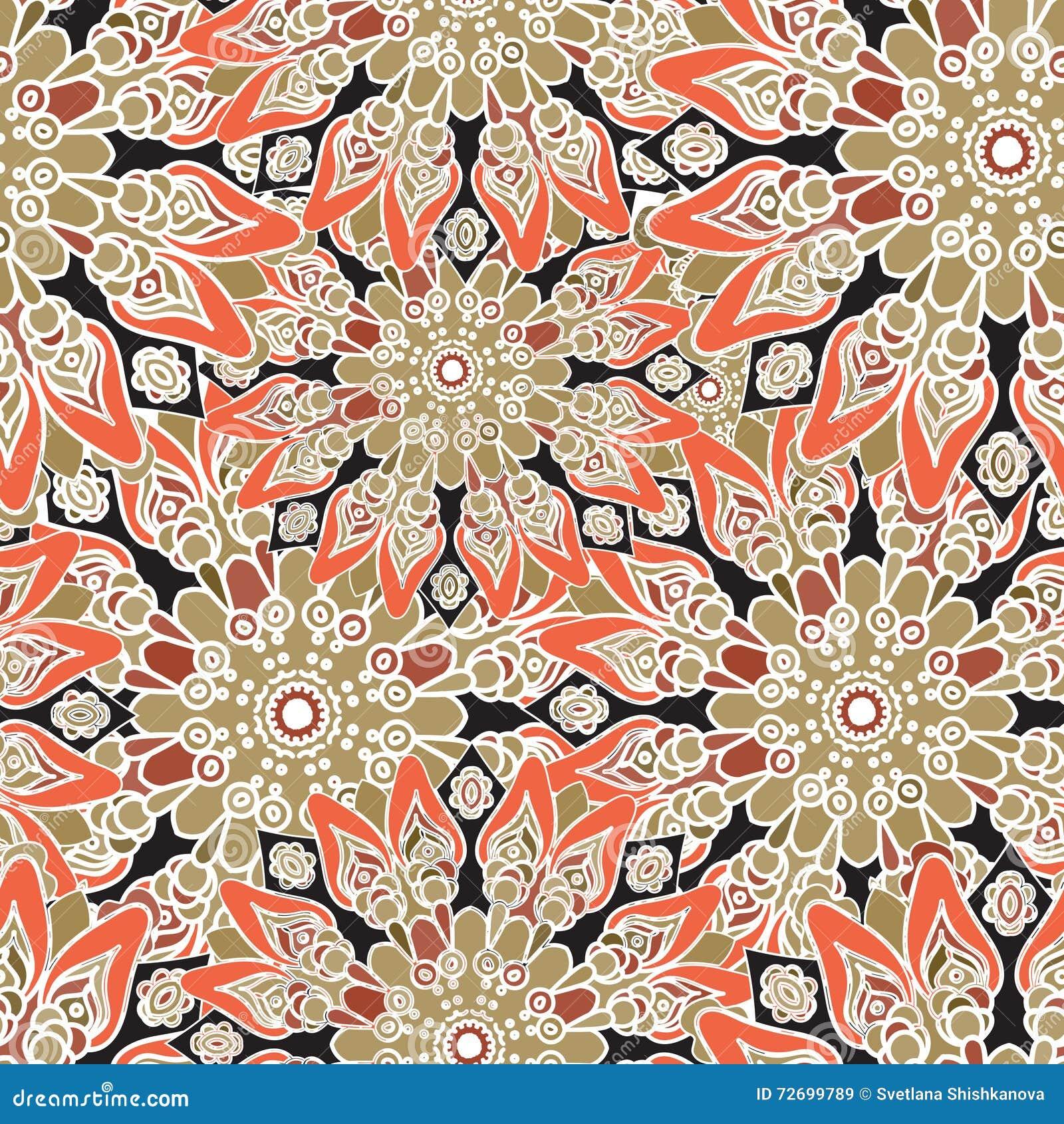 download nahtloses buntes muster orientalische art gewebe oder tapete vektor abbildung illustration von hintergrund - Tapete Orientalisches Muster
