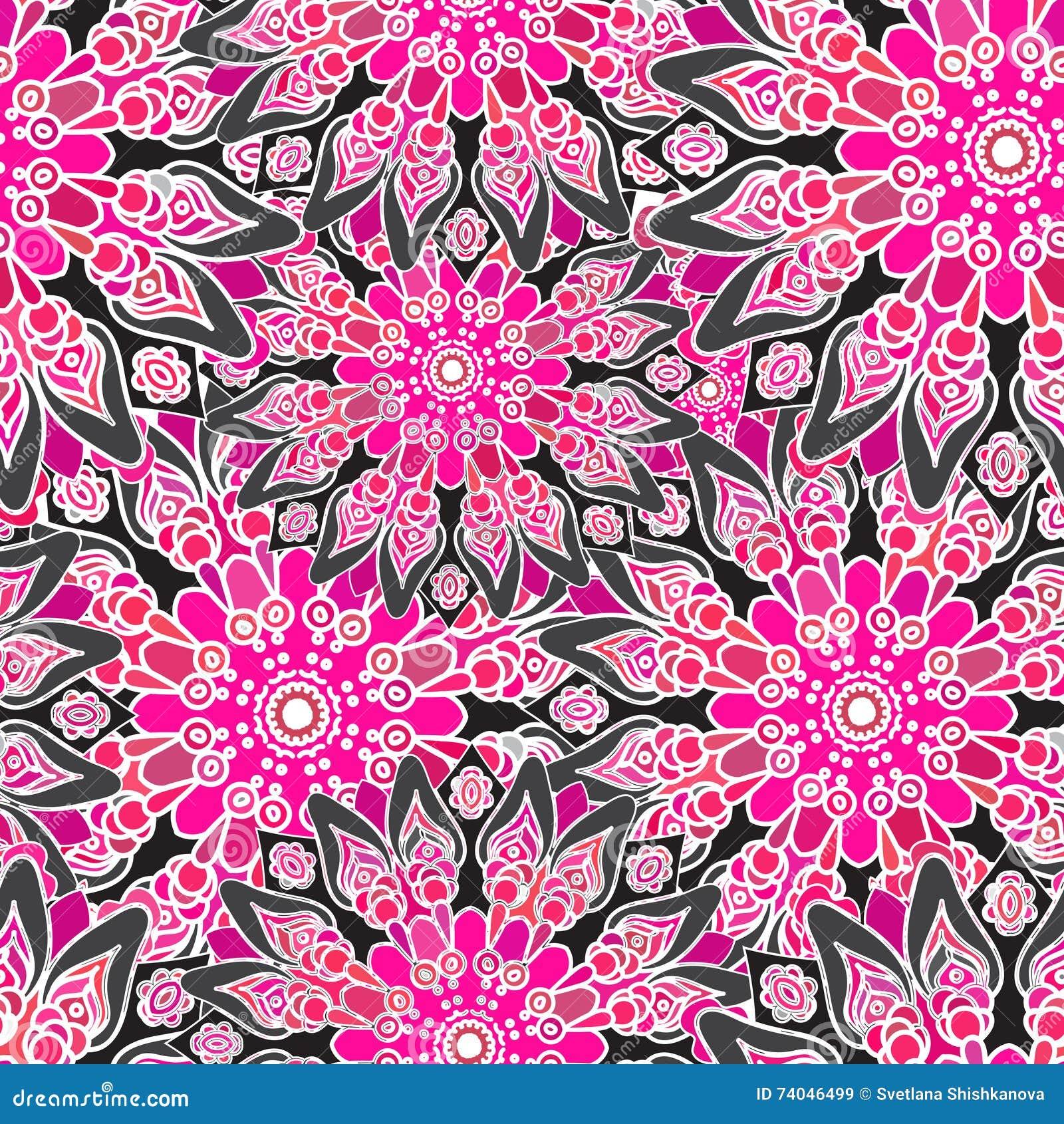 nahtloses buntes muster orientalische art gewebe oder tapete - Tapete Orientalisches Muster