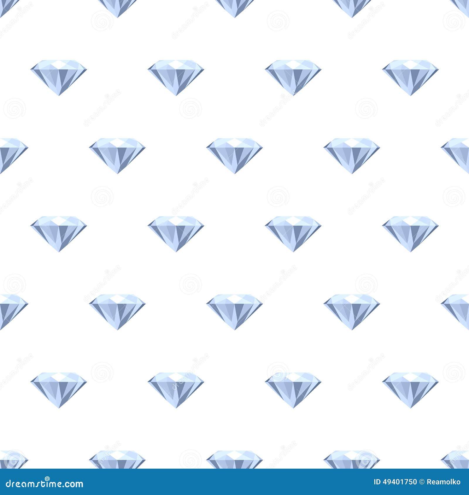 Download Nahtloses Diamantmuster Auf Weiß Vektor Abbildung - Illustration von juwel, diamant: 49401750
