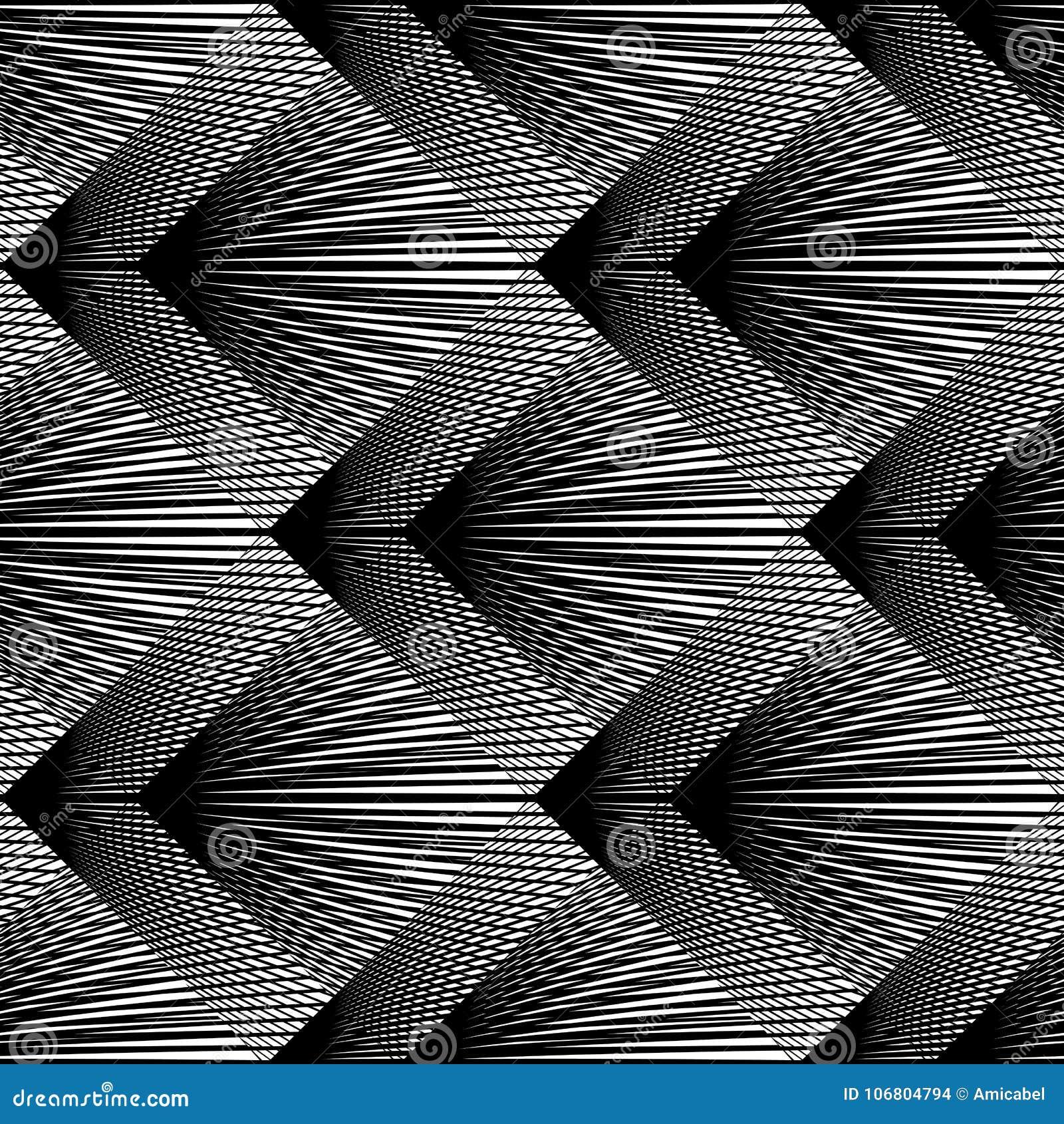 Download Nahtloses Einfarbiges Geometrisches Muster Des Entwurfs Vektor Abbildung - Illustration von rhombus, schwarzes: 106804794