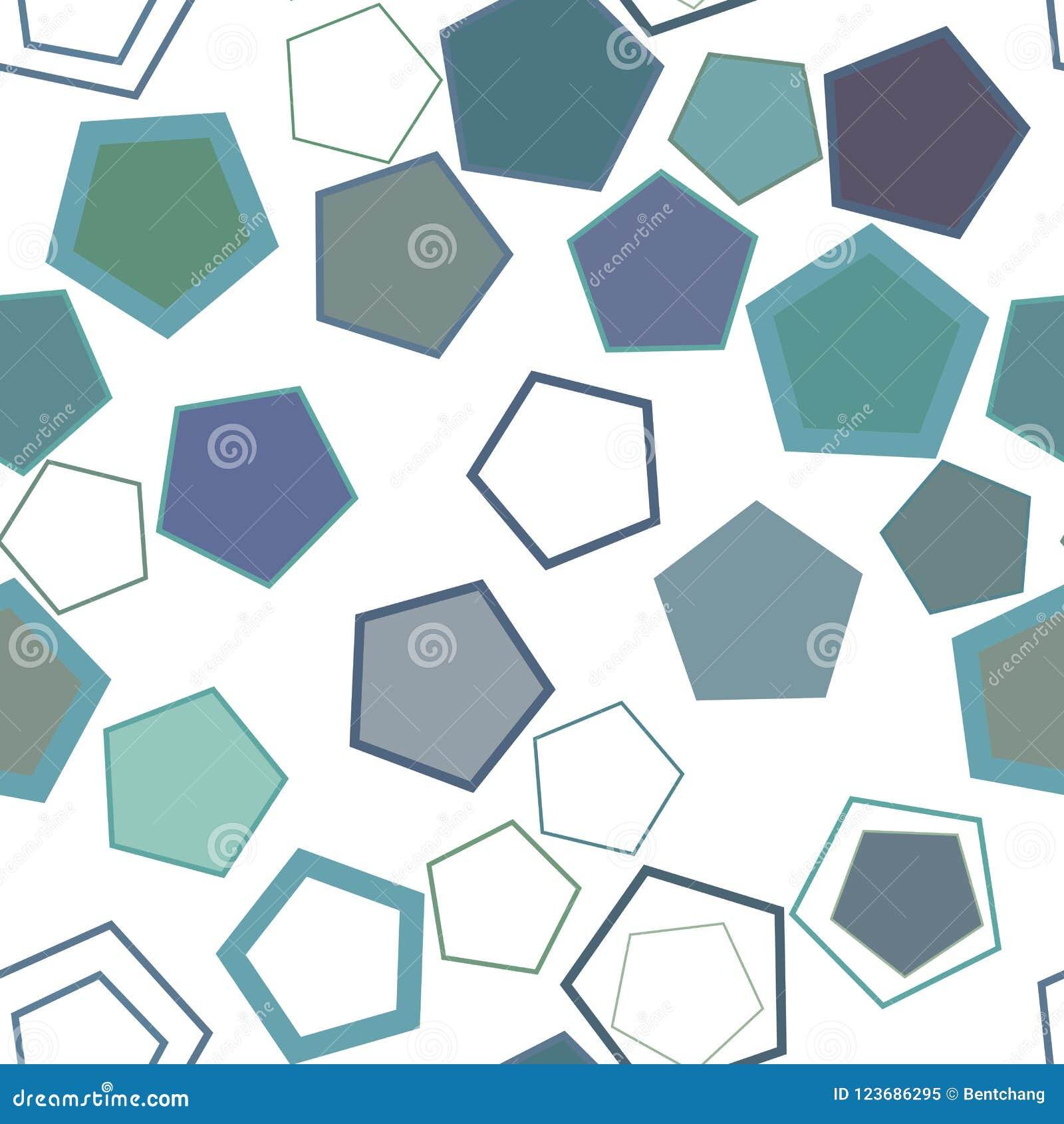 Nahtloses geometrisches Begriffshintergrundpentagonmuster für Design Segeltuch, digital, kreativ u. abstrakt