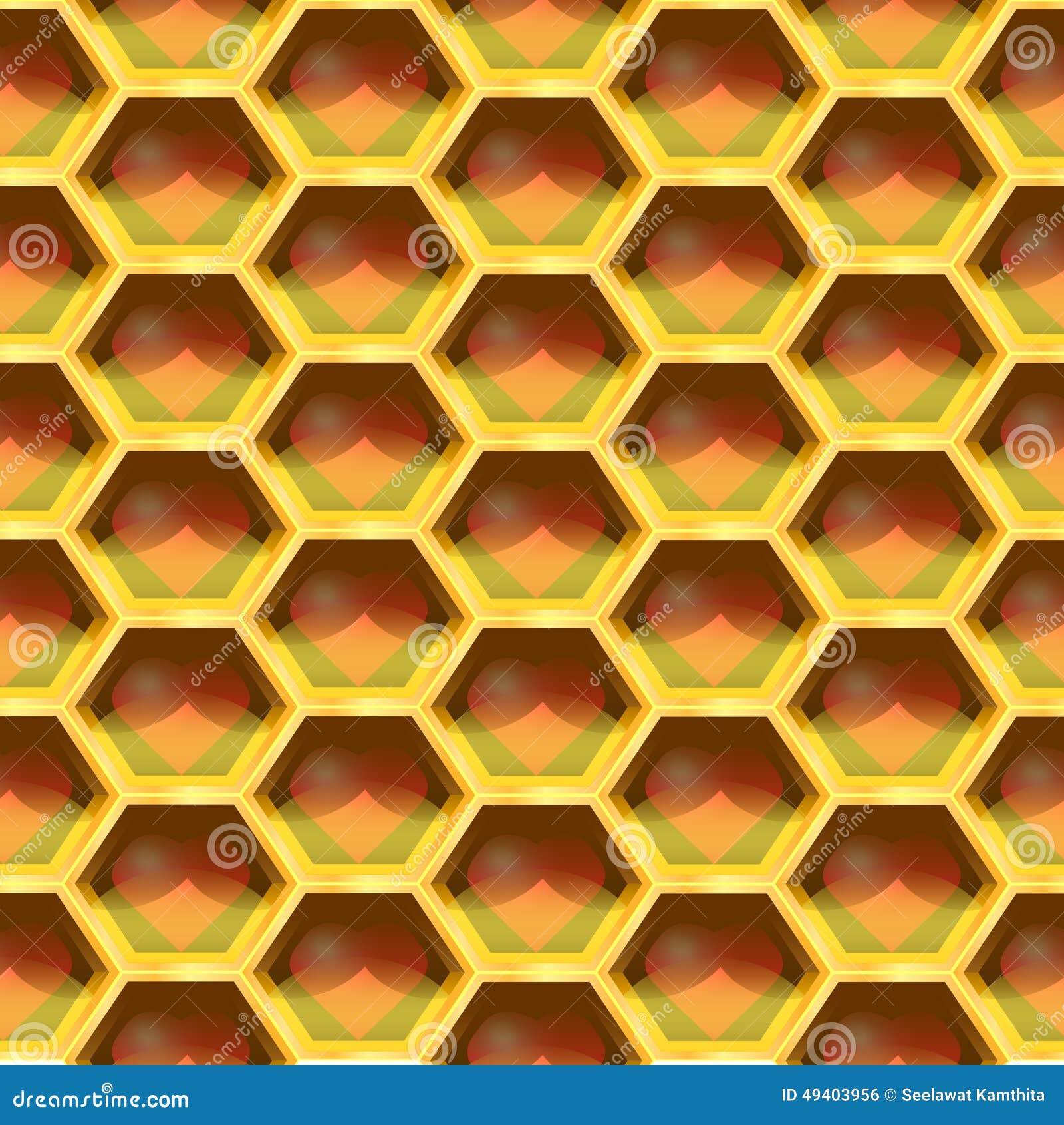 Download Nahtloses Geometrisches Muster Des Herzens In Der Bienenwabe Auch Im Corel Abgehobenen Betrag Vektor Abbildung - Illustration von nahtlos, bienenwabe: 49403956