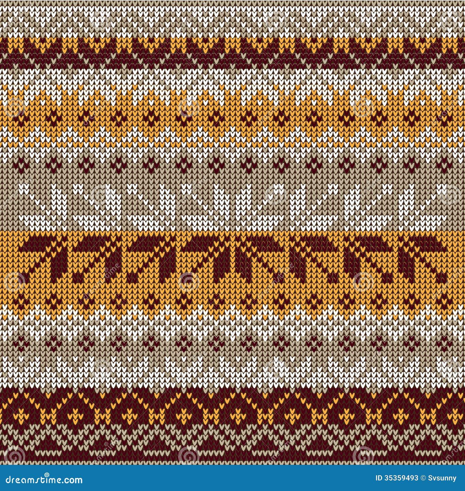 nahtloses gestricktes muster der skandinavischen art farben gelb whi stockfotos bild 35359493. Black Bedroom Furniture Sets. Home Design Ideas