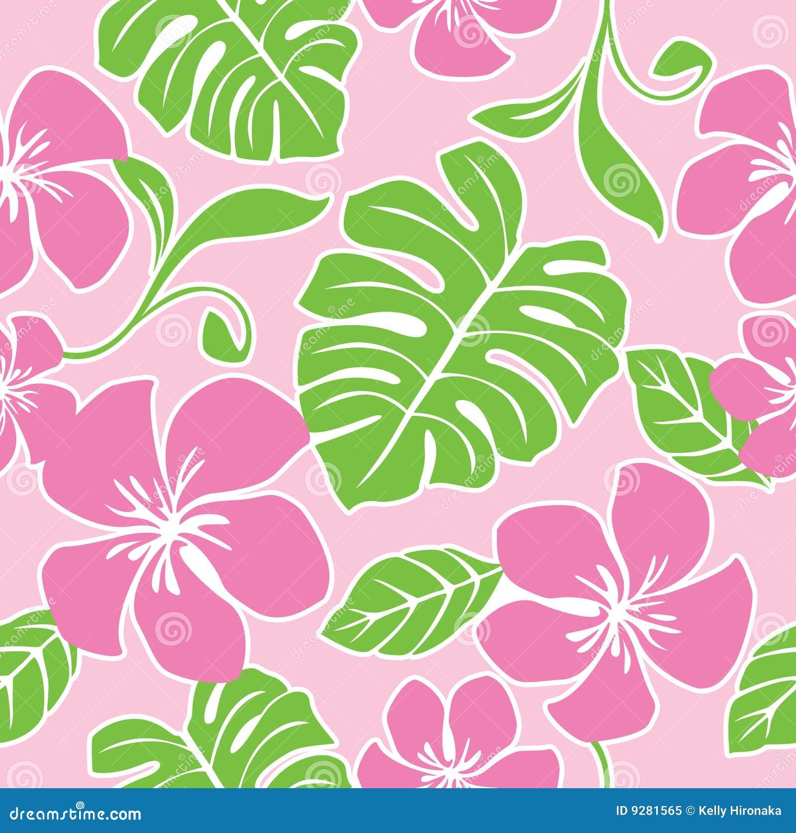 Nahtloses Hawaii-Sommer-Muster Vektor Abbildung - Bild 9281565