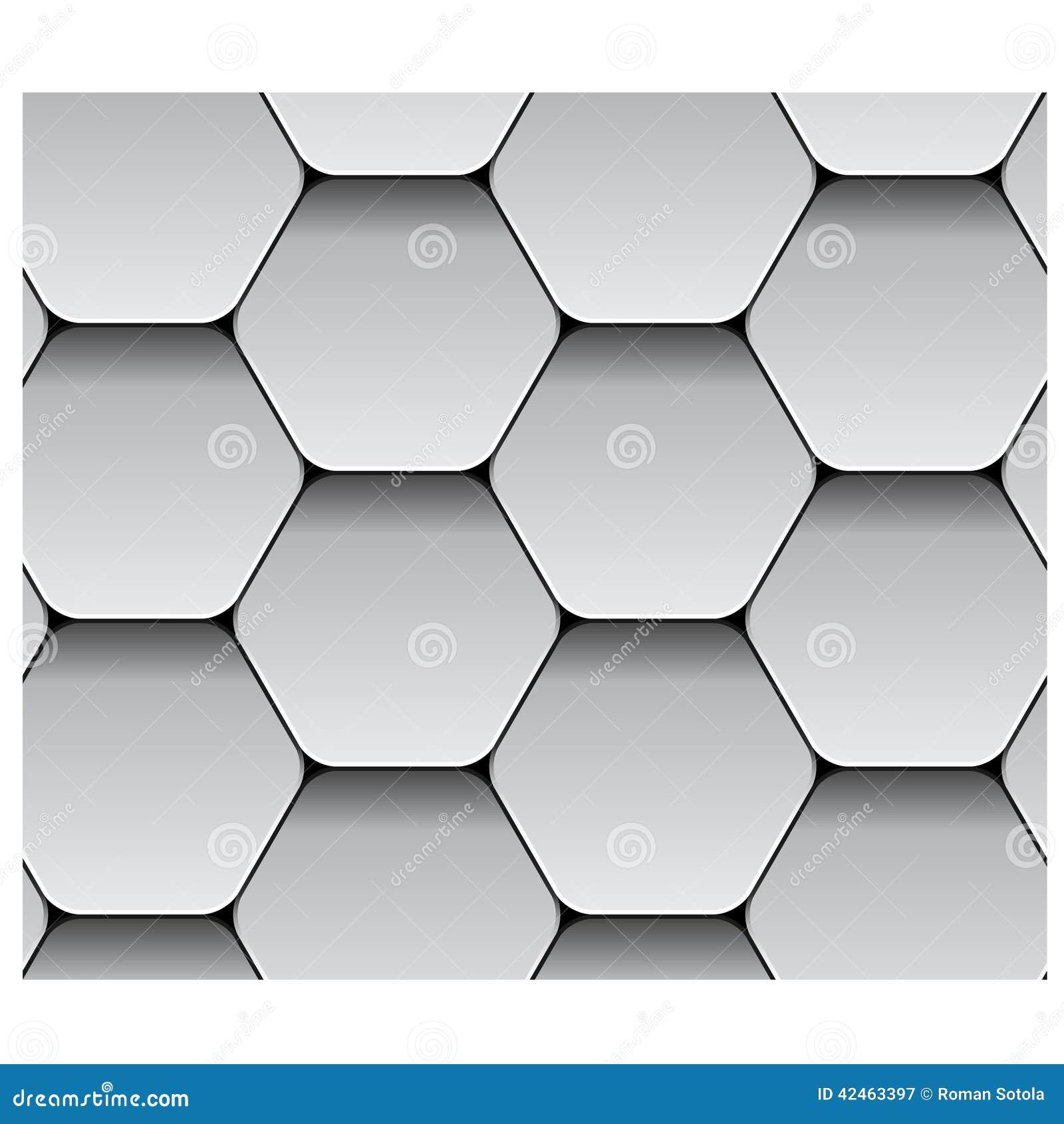 Nahtloses Hexagonpapiermuster