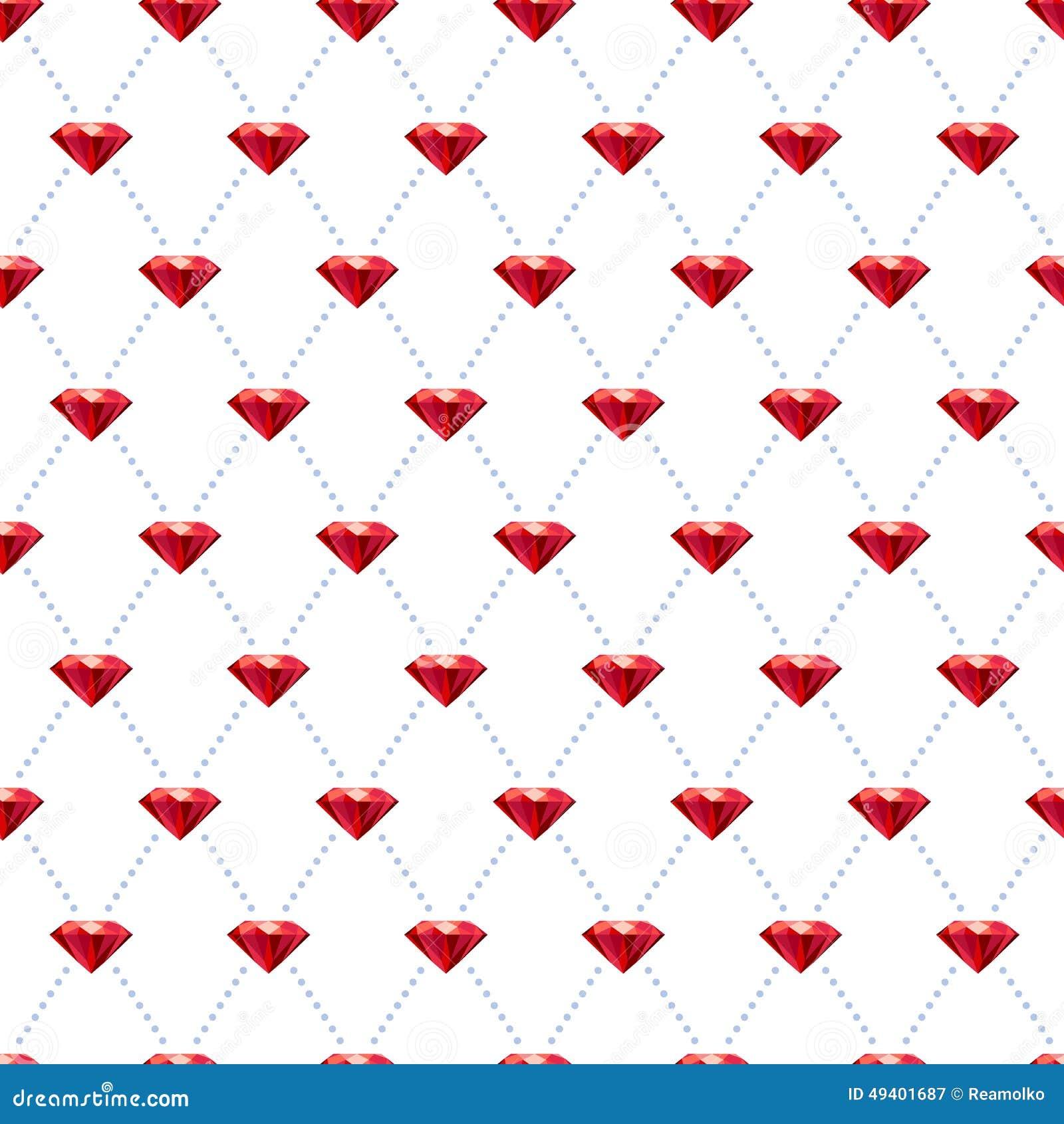 Download Nahtloses Karminrotes Muster Auf Weiß Vektor Abbildung - Illustration von flach, jewelery: 49401687