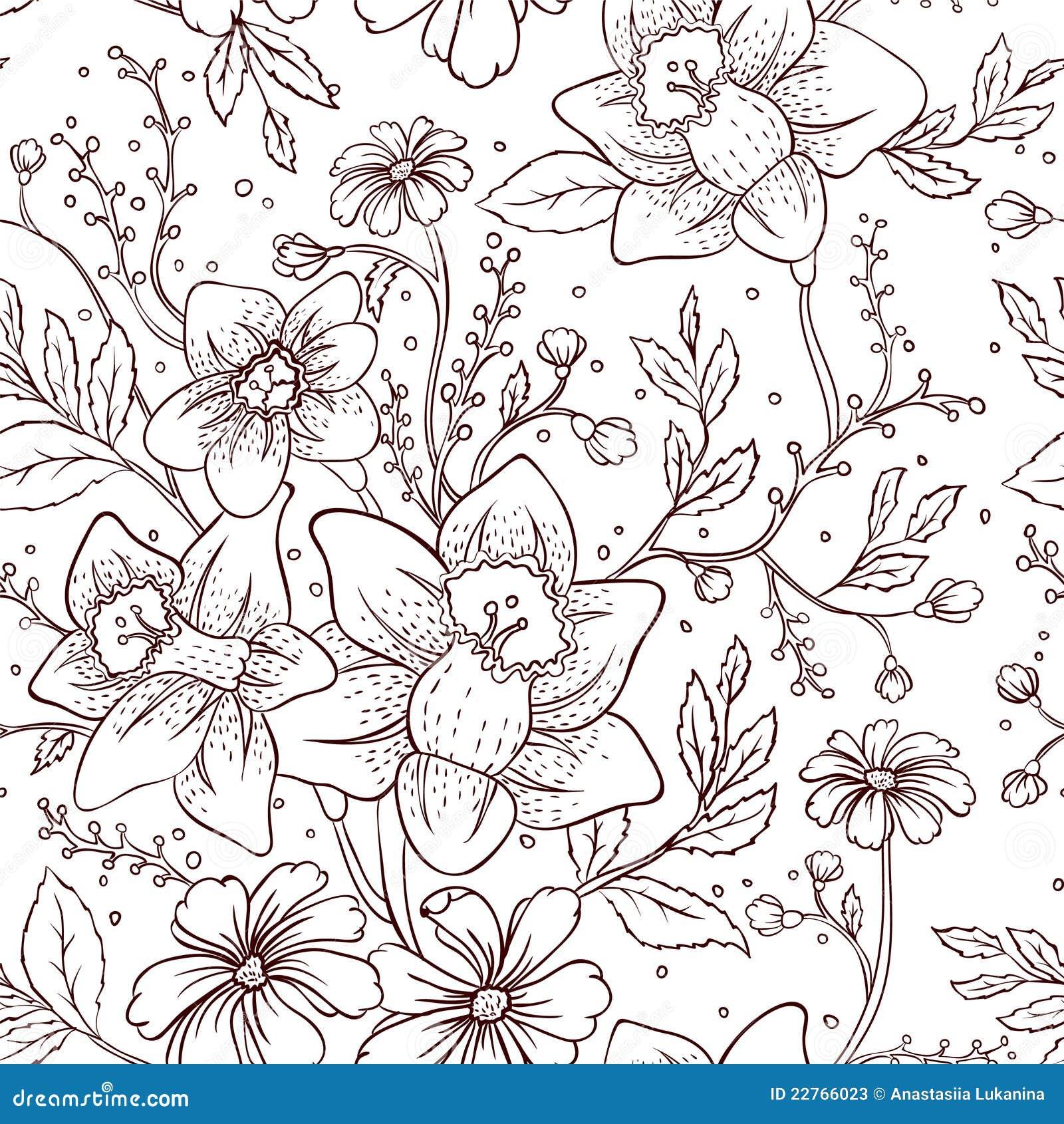 Nahtloses mit Blumenmuster
