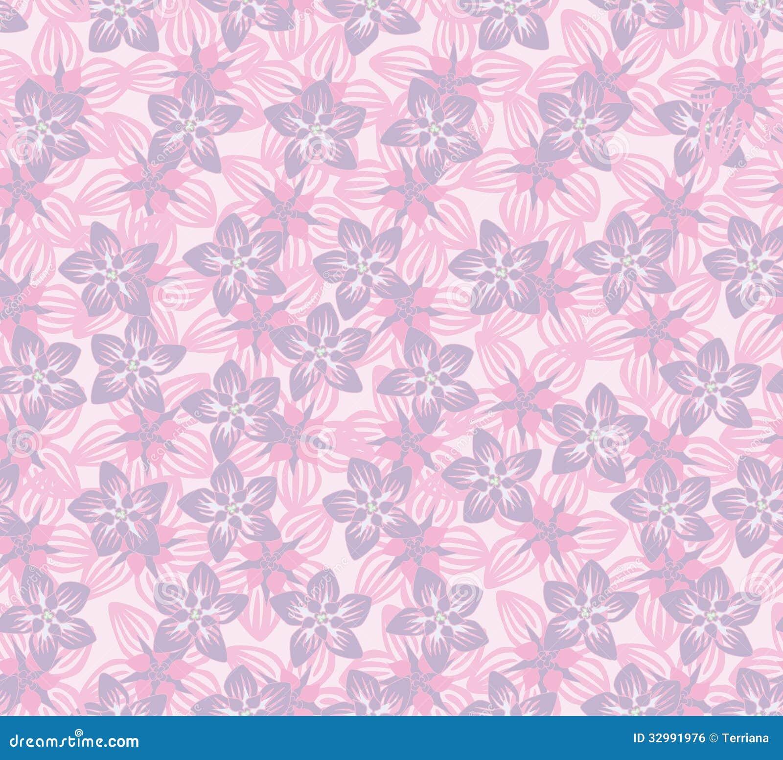 nahtloses mit blumenmuster mit den lila und rosa blumen nahtloser mit blumenhintergrund stock. Black Bedroom Furniture Sets. Home Design Ideas