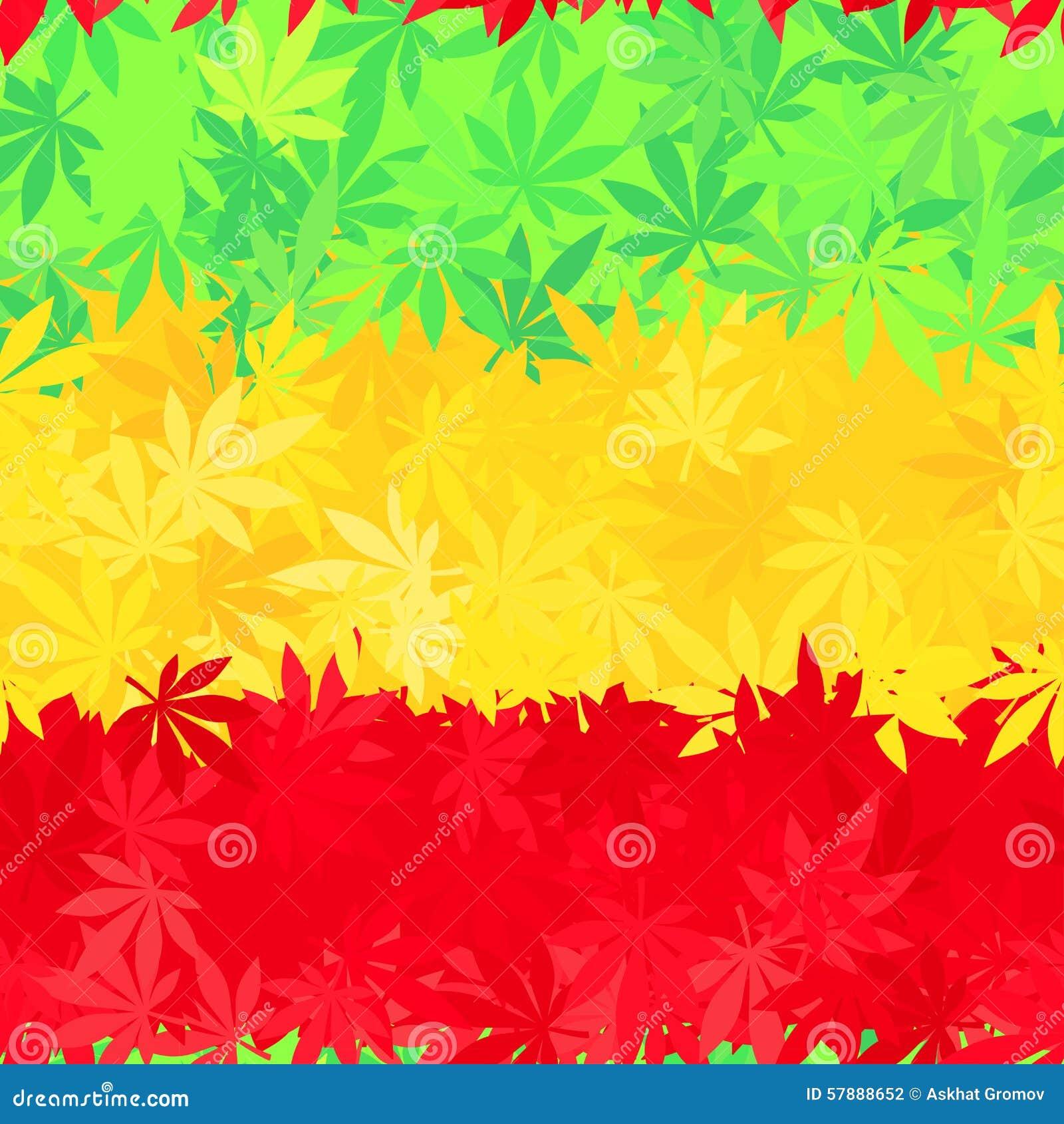 Nahtloses Muster Äthiopien-Flagge Jamaika-Reggae Vektor Abbildung ...