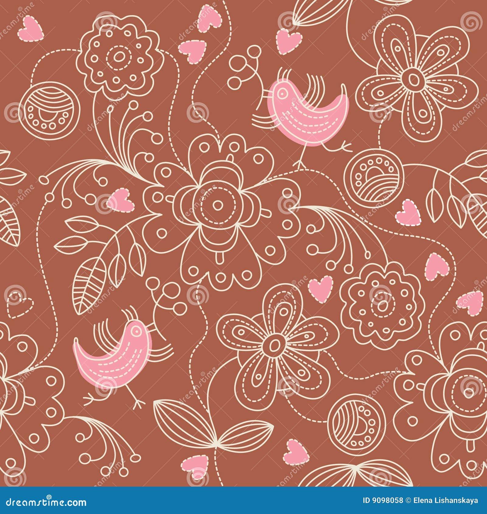 Nahtloses Muster - abstrakte Blumen
