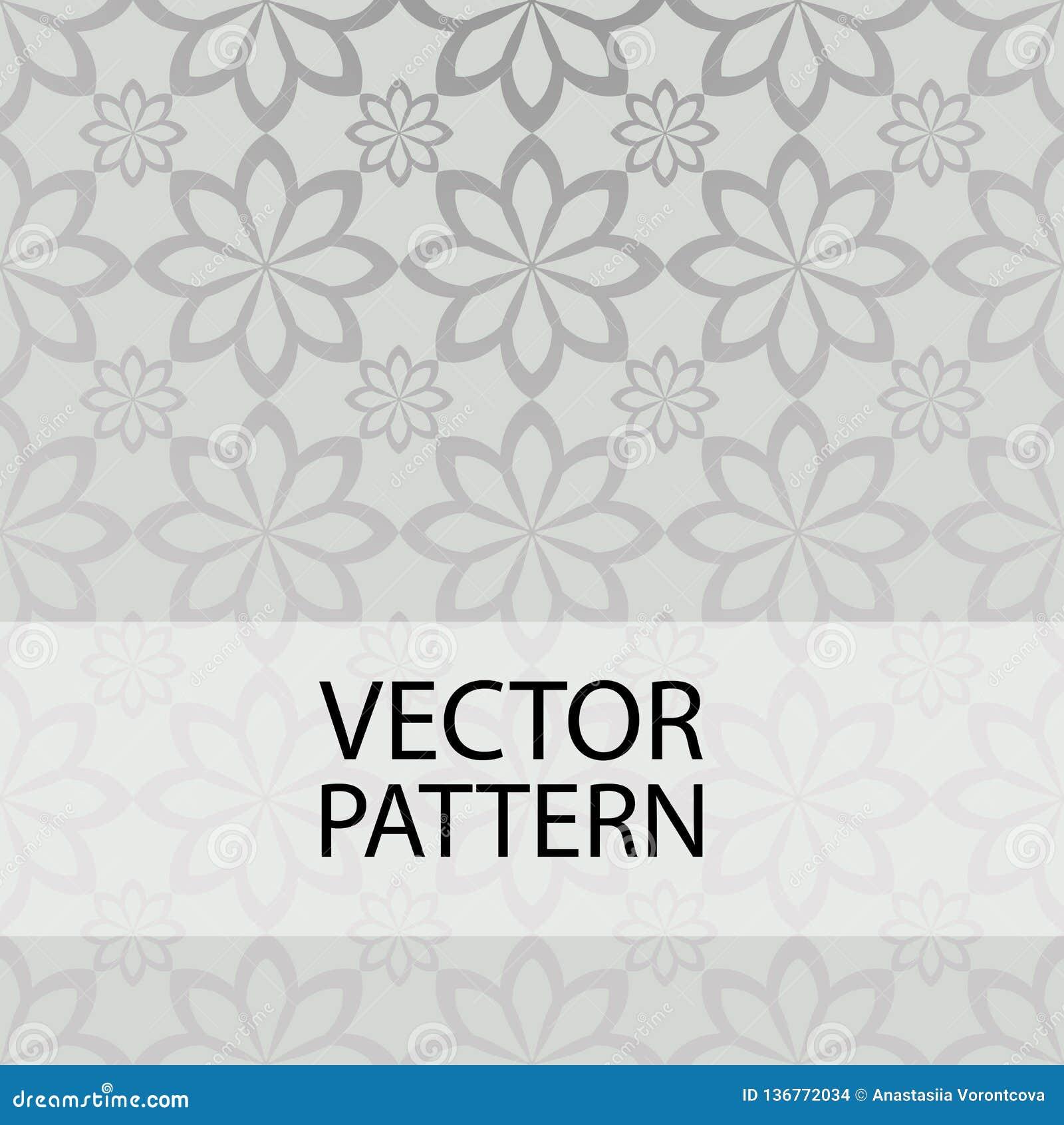 Nahtloses Muster auf grauer Hintergrundformblume