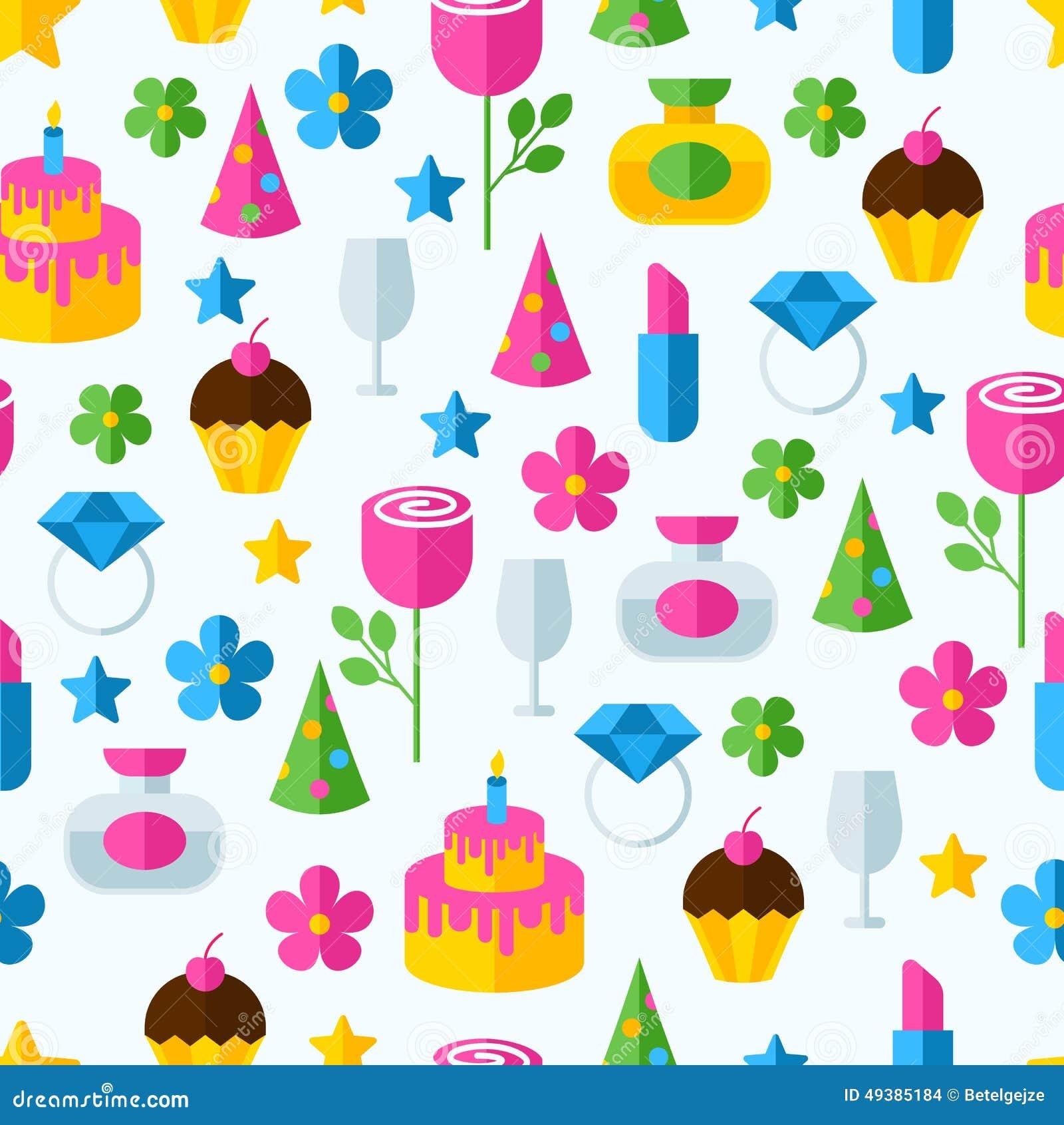 Nahtloses Muster Der Abstrakten Bunten Geschenke Geburtstag