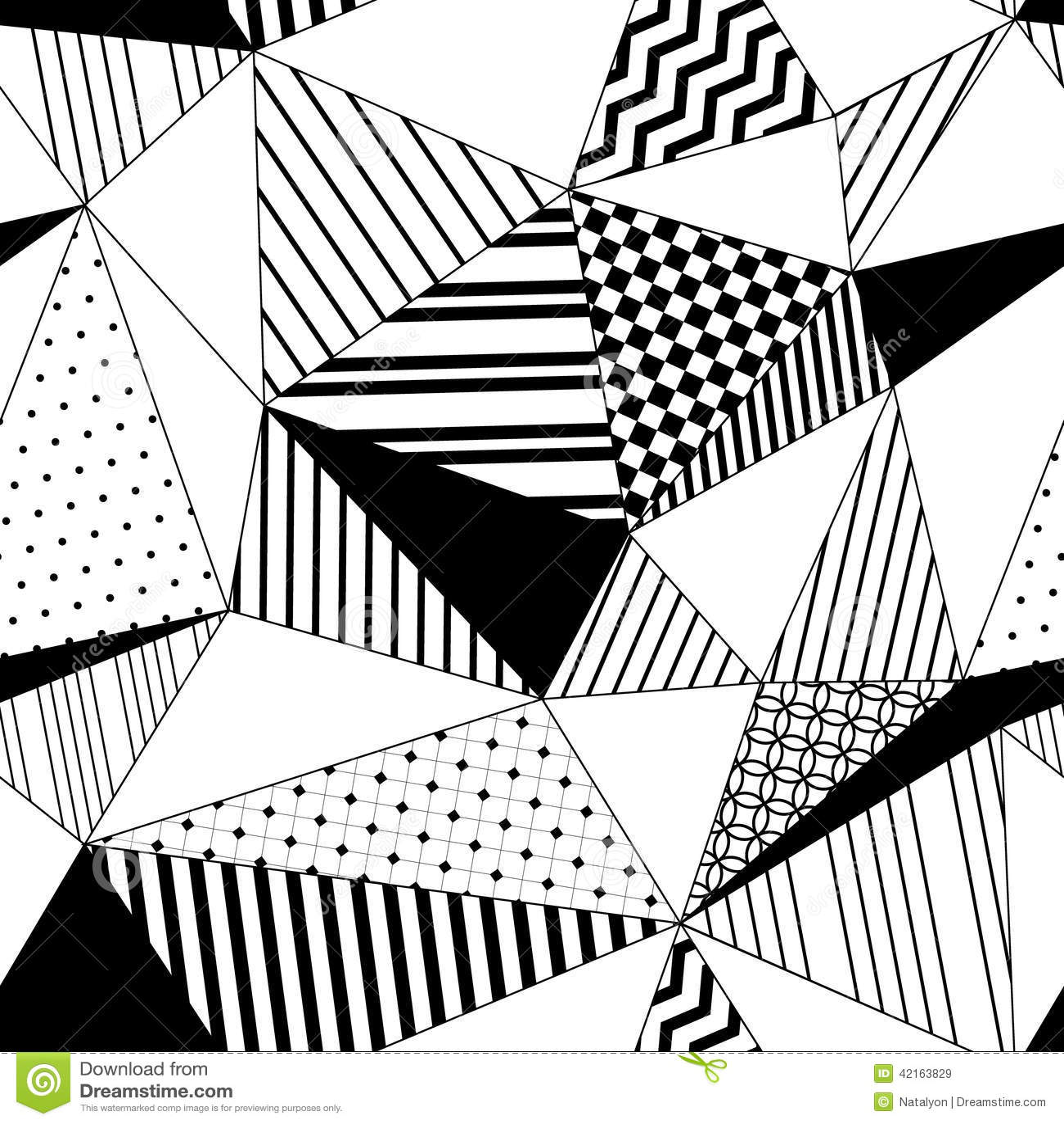 Nahtloses Muster Der Abstrakten Geometrischen Gestreiften Dreiecke ...