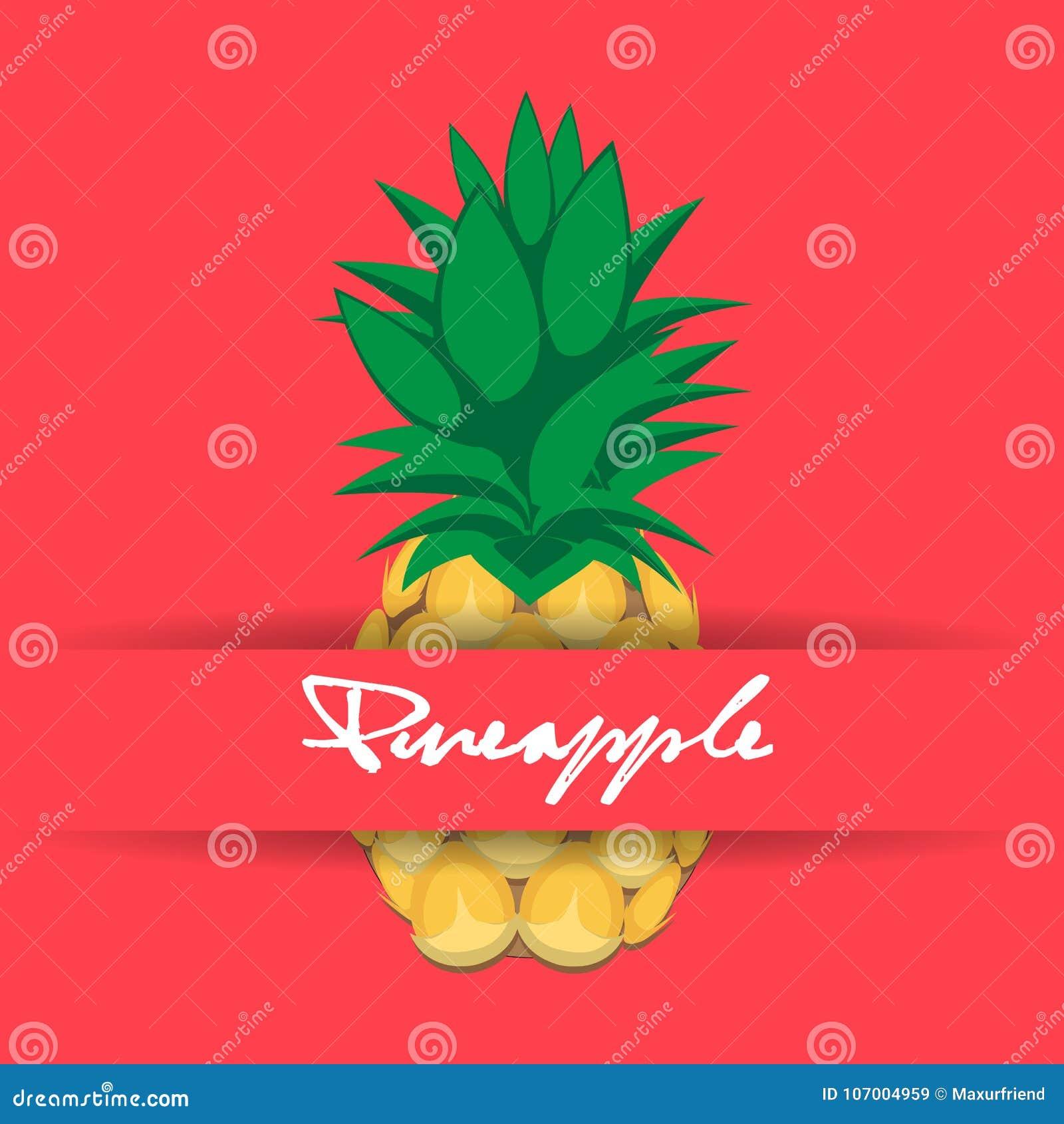Nahtloses Muster Der Ananasfruchtkonturn Zusammenfassung Auf Rosa
