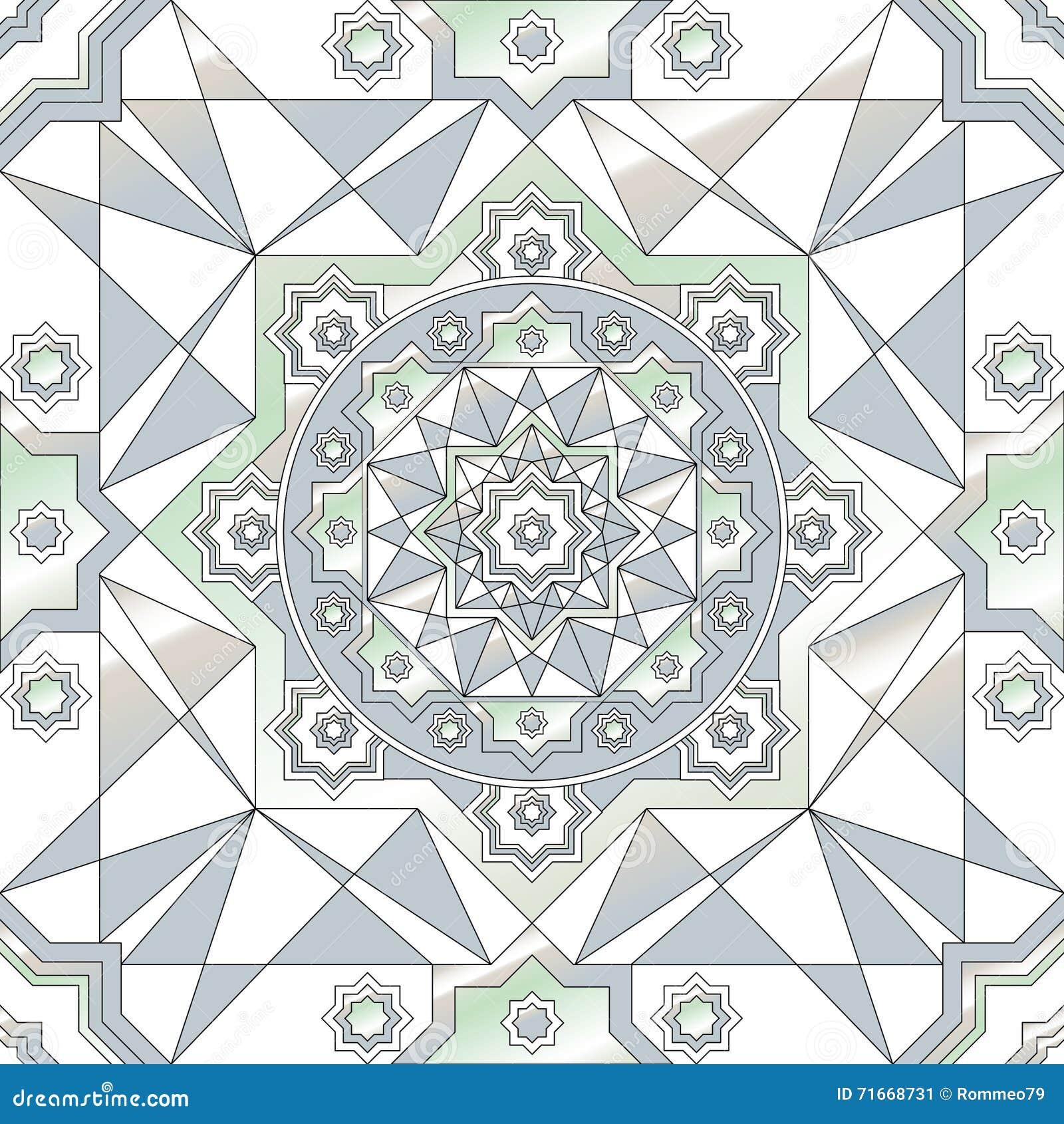 Nahtloses Muster der geometrischen Verzierung Runde Verzierungsschwarzweiss-beschaffenheit im Vektor Große Wahl für die Verpackun
