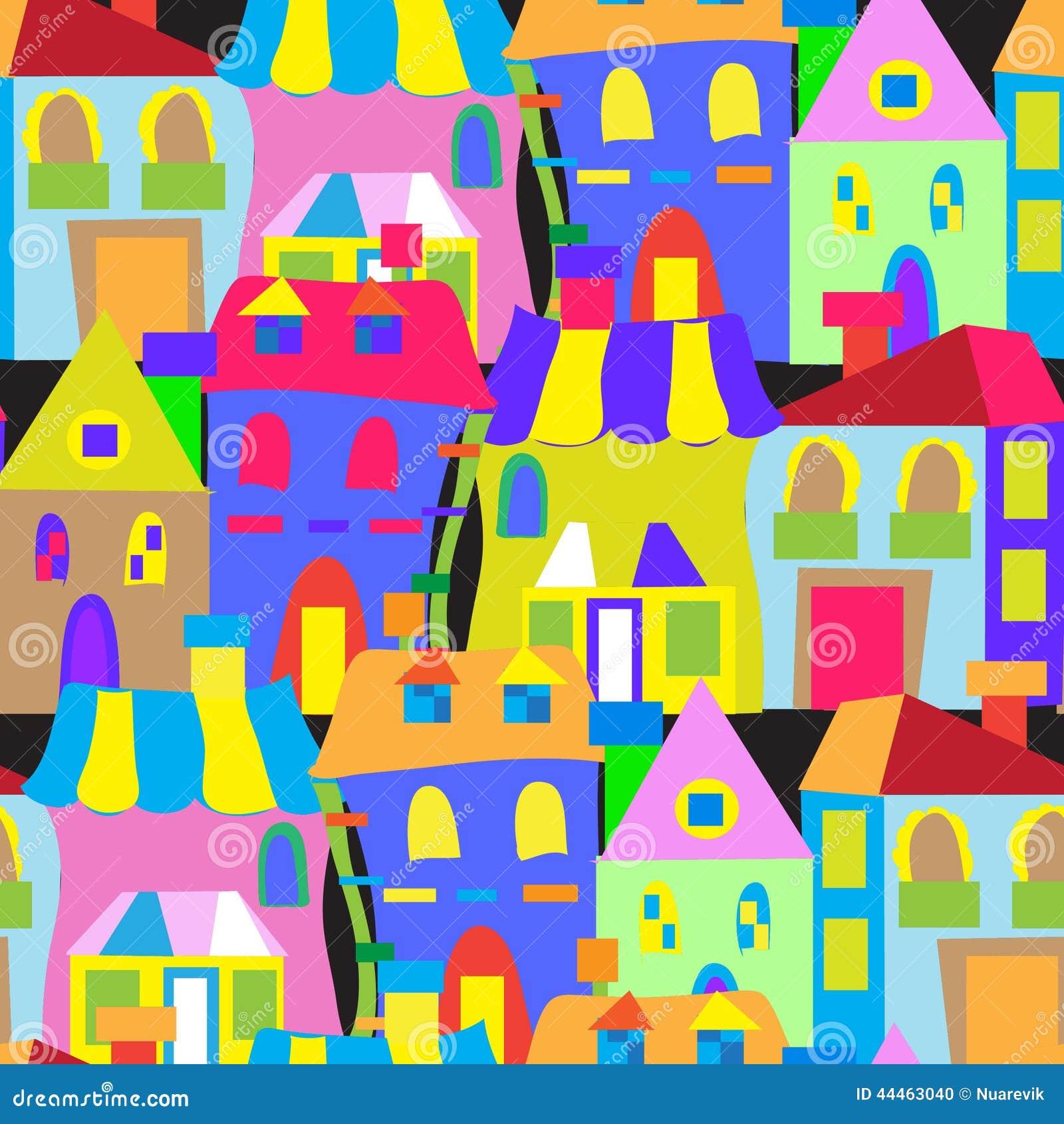 Nahtloses Muster der Hausgekritzel