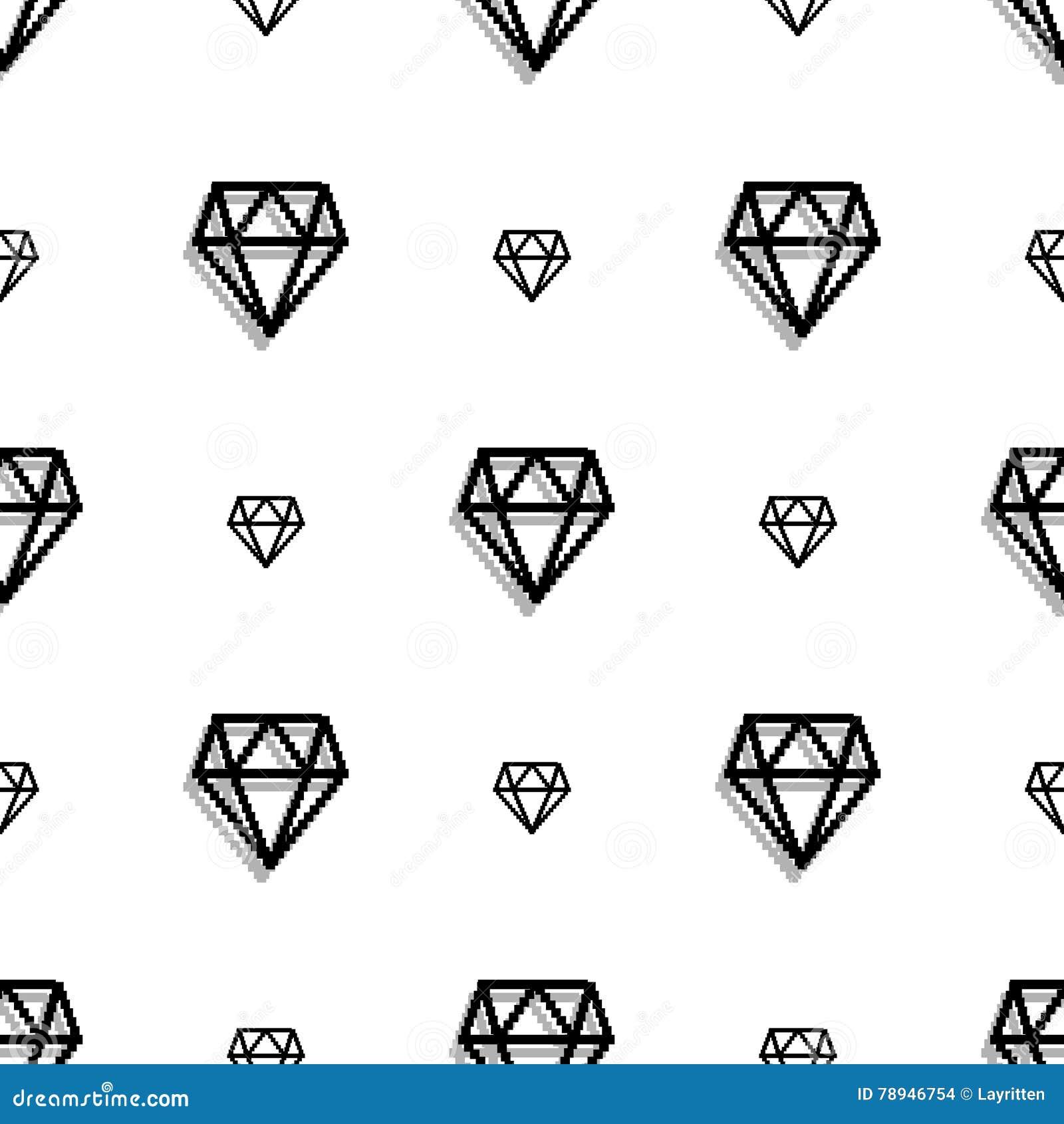 Nahtloses Muster der Hintergrundmodediamantartpixel-Kunst