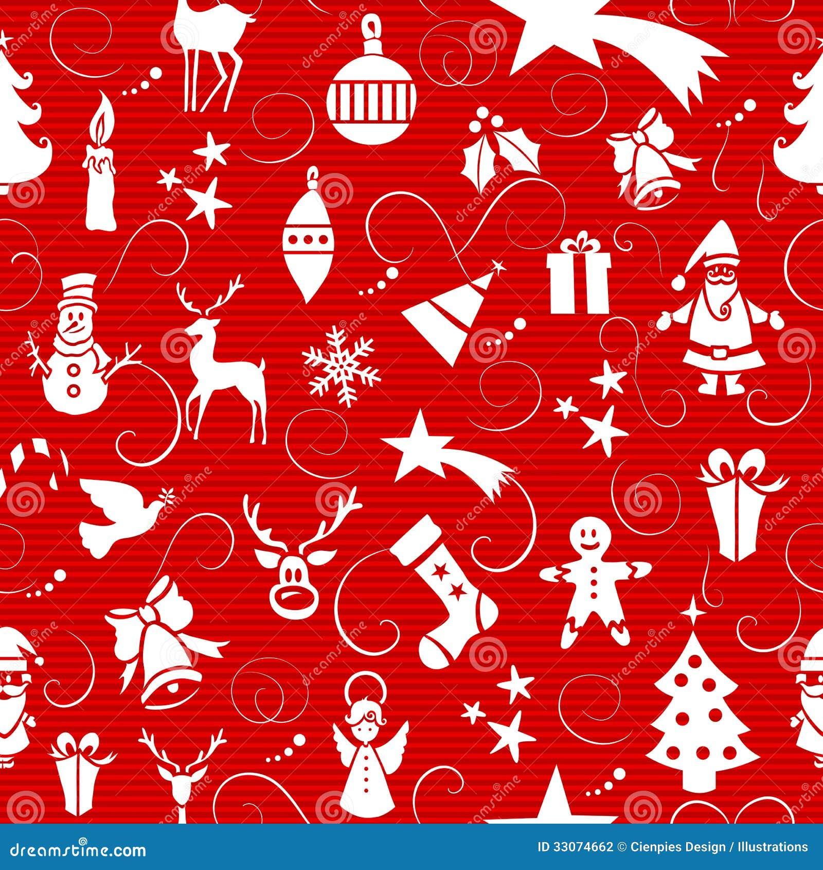 nahtloses muster der ikonen der frohen weihnachten vektor. Black Bedroom Furniture Sets. Home Design Ideas