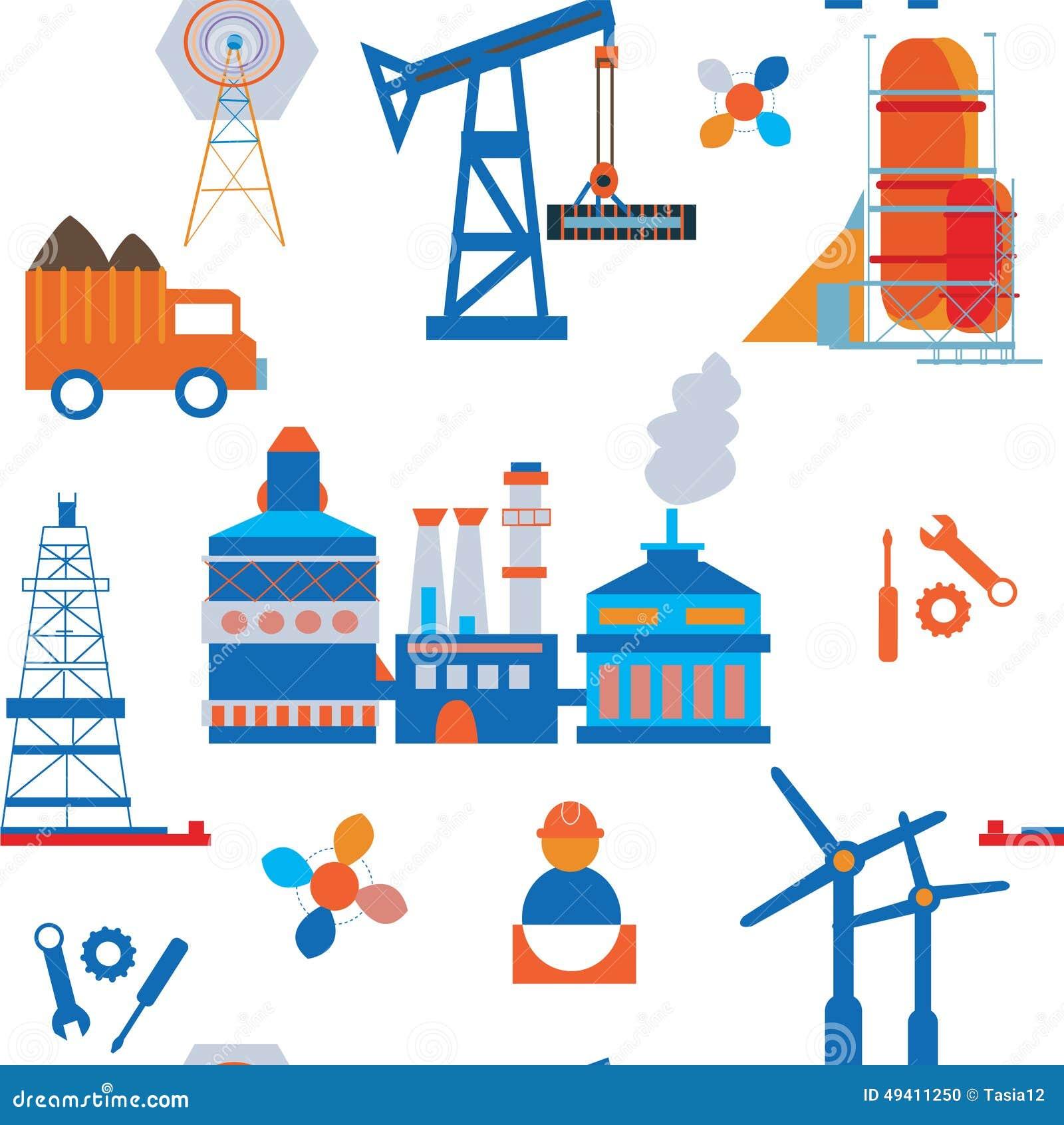 Download Nahtloses Muster Der Industrie Und Des Transportes Vektor Abbildung - Illustration von ikone, stadt: 49411250