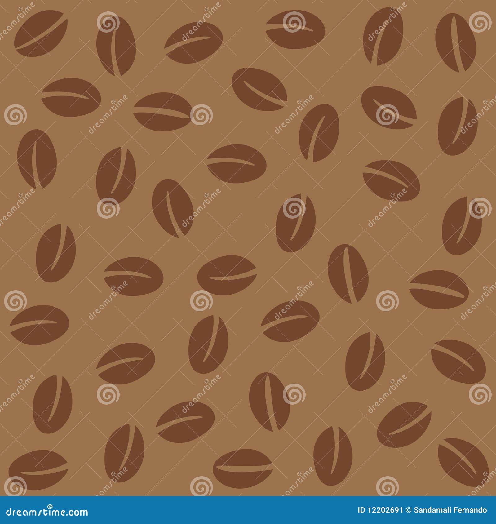 Nahtloses Muster der Kaffeebohnen
