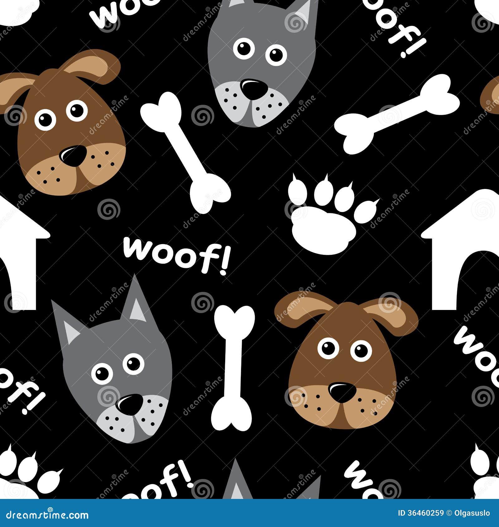 Nahtloses Muster der Karikatur mit Hunden