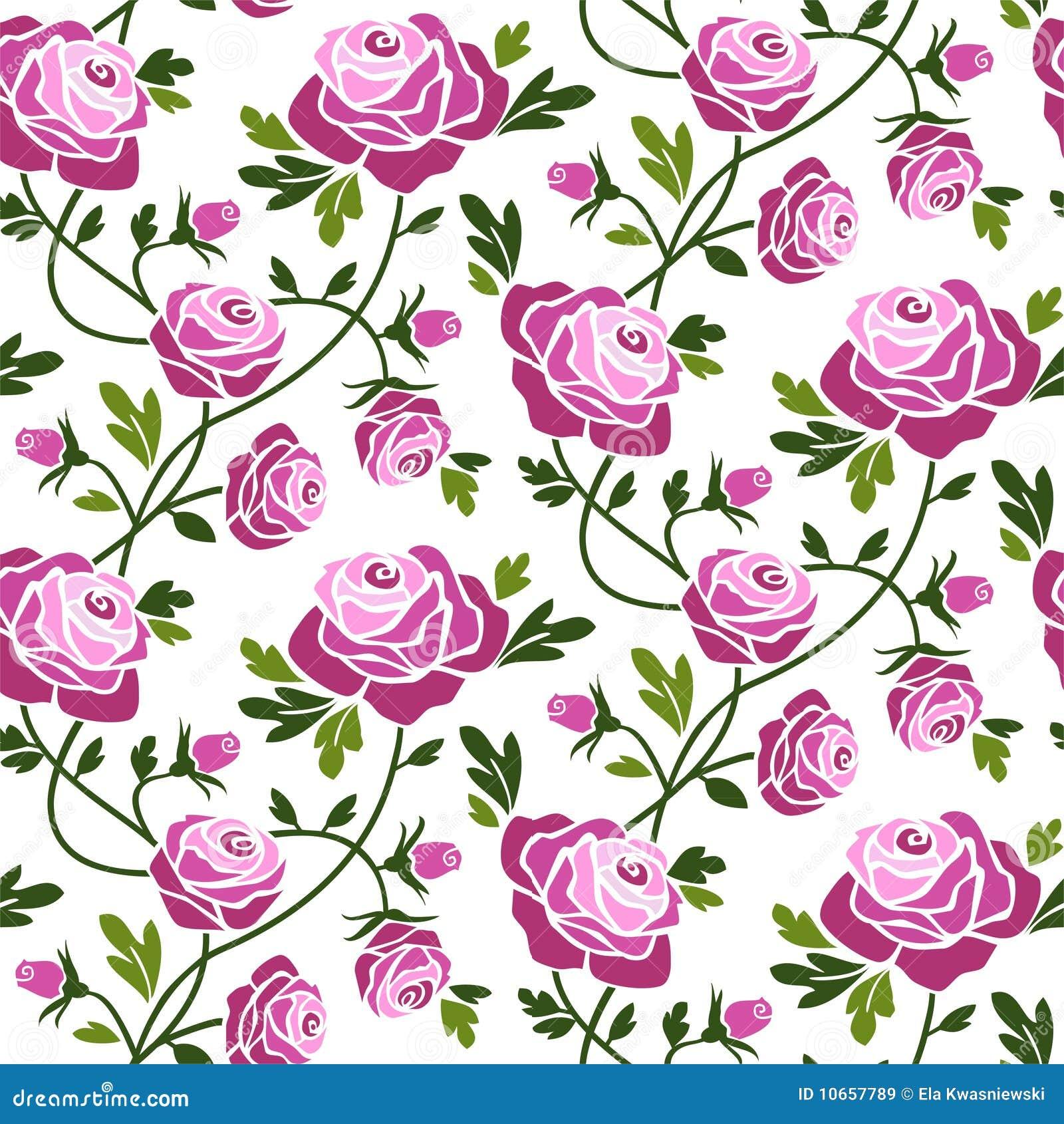 nahtloses muster der rosen lizenzfreie stockbilder bild 10657789. Black Bedroom Furniture Sets. Home Design Ideas
