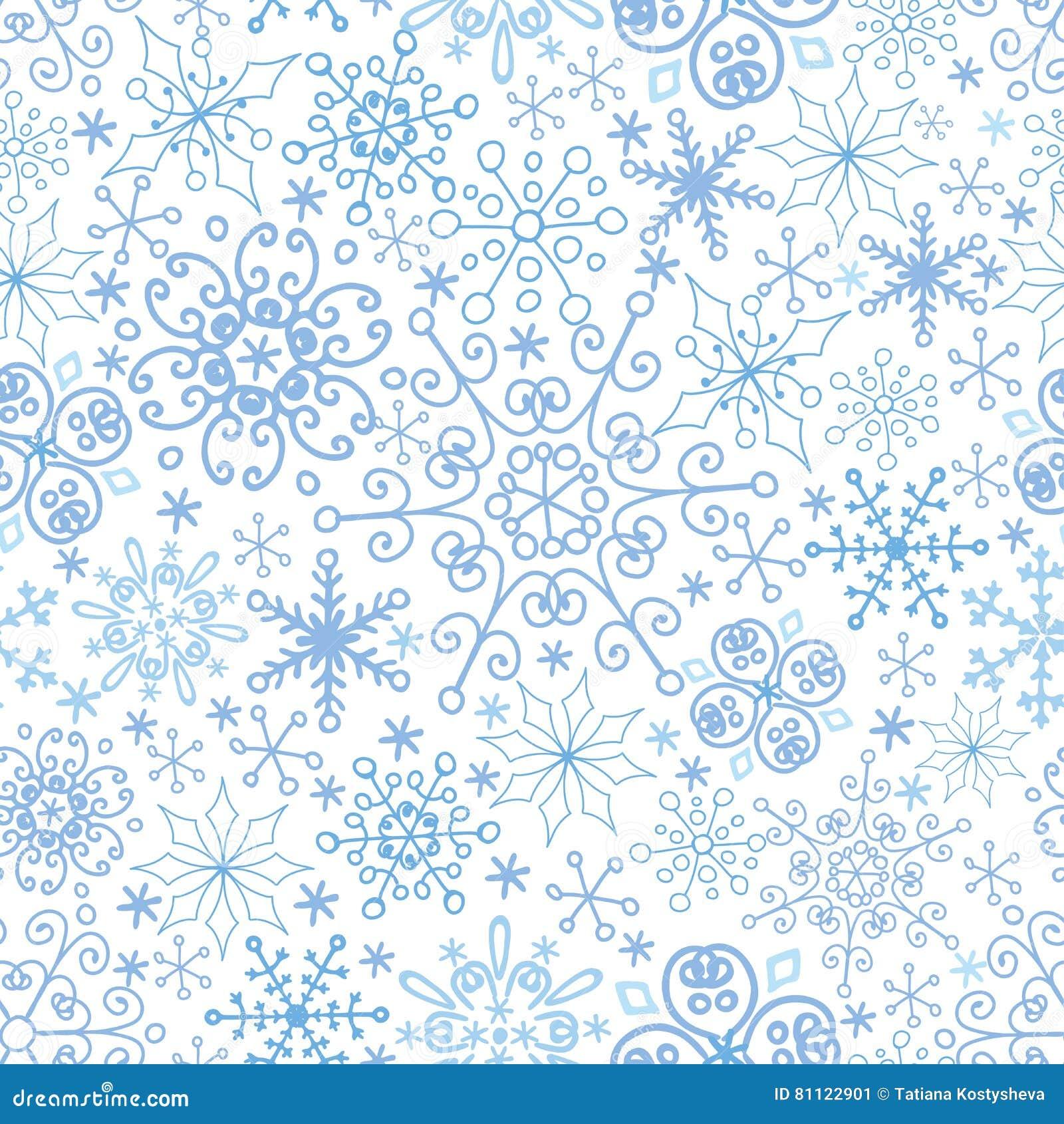 Nahtloses Muster Der Schneeflocke, Spitze Winter, Weihnachten, Neues ...
