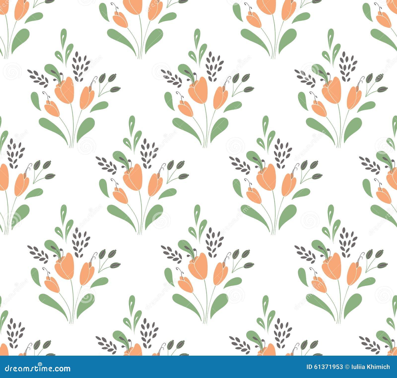 Rote Tapete Mit Blumenmuster : Nahtloses mit Blumenmuster mit mit Blumenstr?u?e von Tulpen
