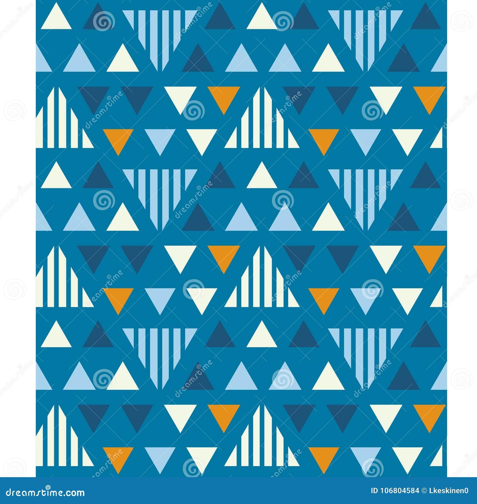 Download Nahtloses Muster Der Unregelmäßigen Dreiecke Vektor Abbildung - Illustration von geometrisch, auszug: 106804584