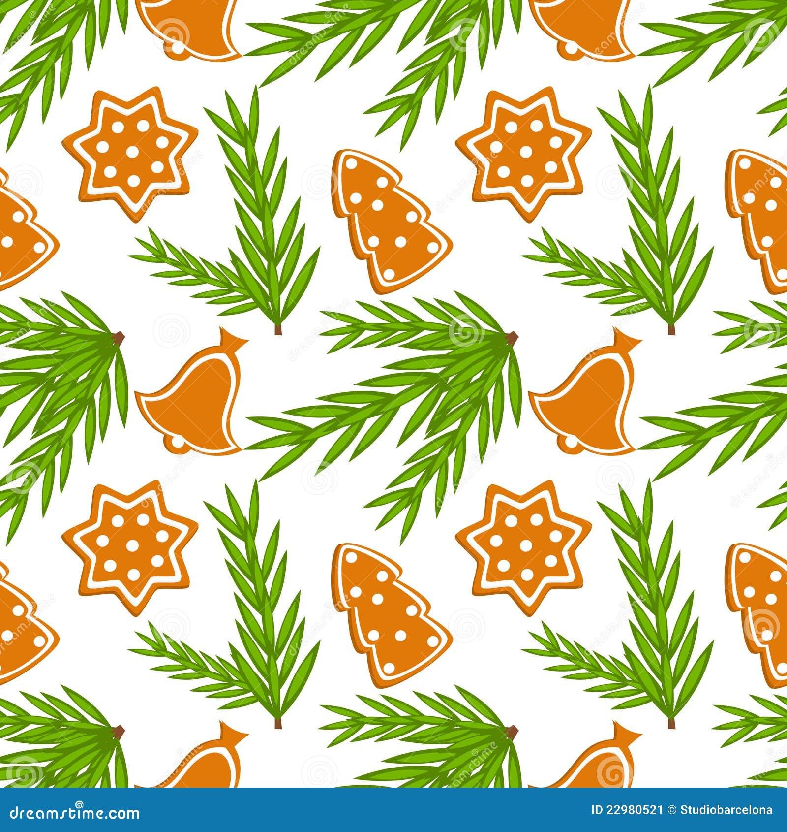 Nahtloses Muster der Weihnachtsplätzchen