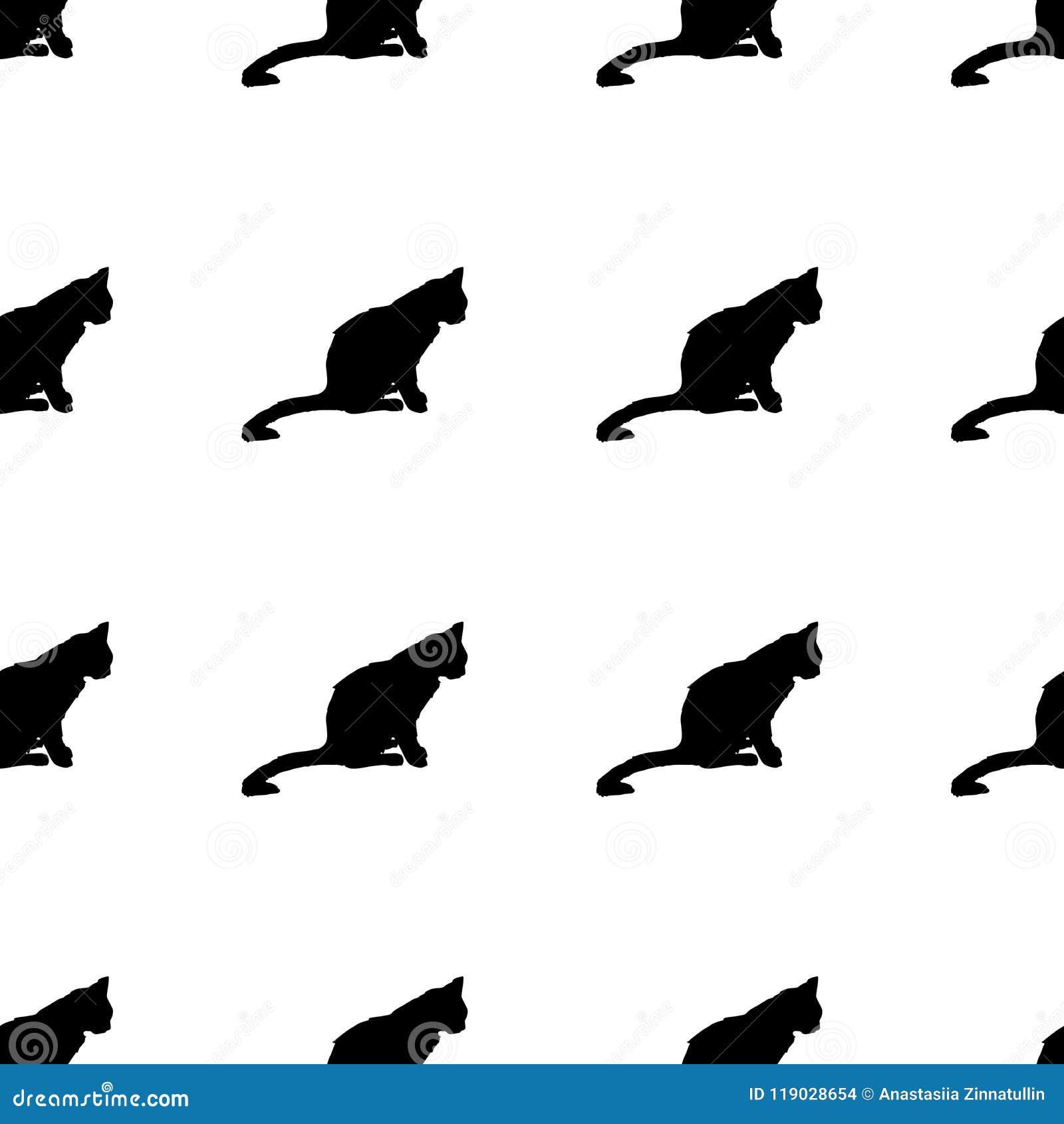 nahtloses muster der weinlese mit katzen auch im corel