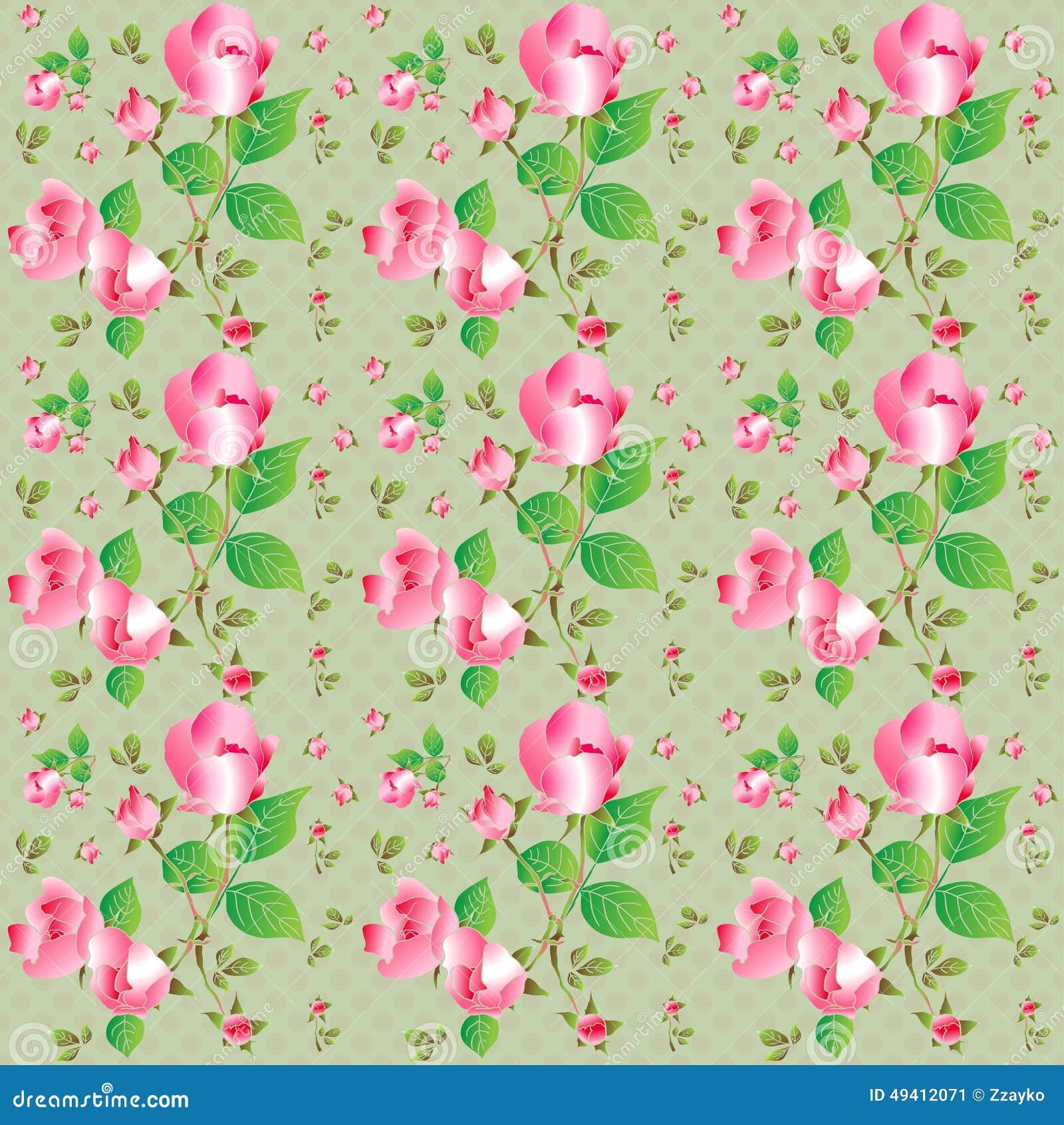 Download Nahtloses Muster Der Weinlese Mit Schönen Rosen Auch Im Corel Abgehobenen Betrag Stock Abbildung - Illustration von nave, druck: 49412071