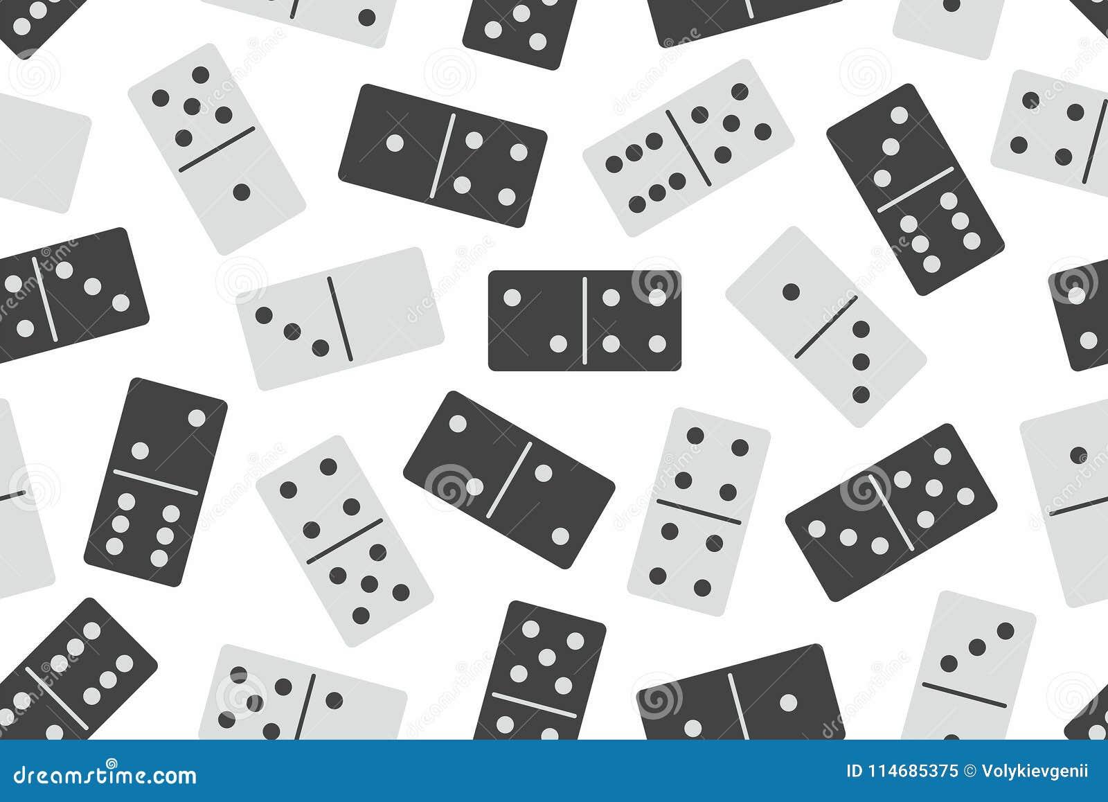 Nahtloses Muster des Dominovektors