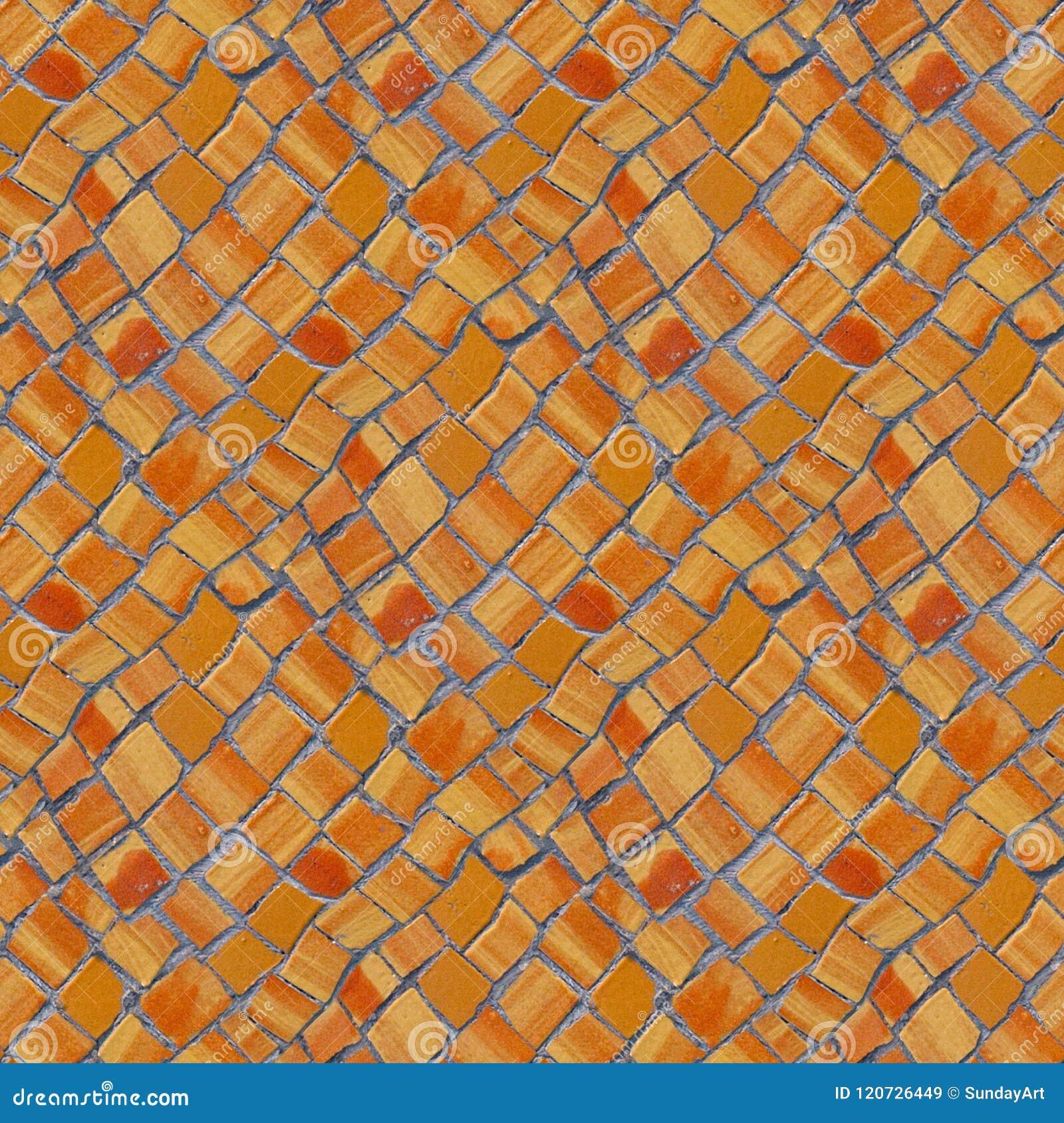Nahtloses Muster des Fotos mit Fragment der Wand mit defektem keramischem