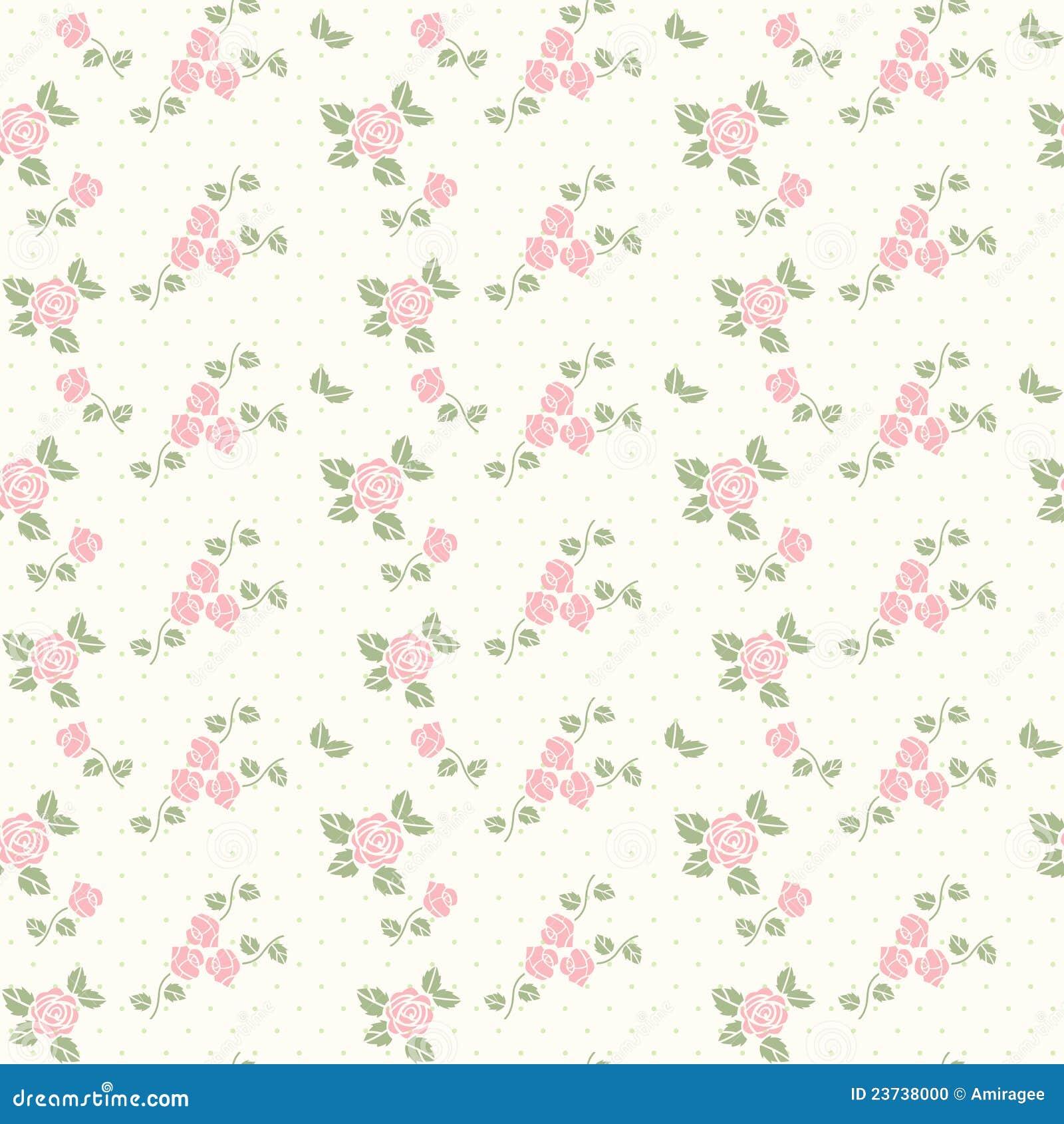 Nahtloses Muster des Frühlinges mit Inneren und Rosen