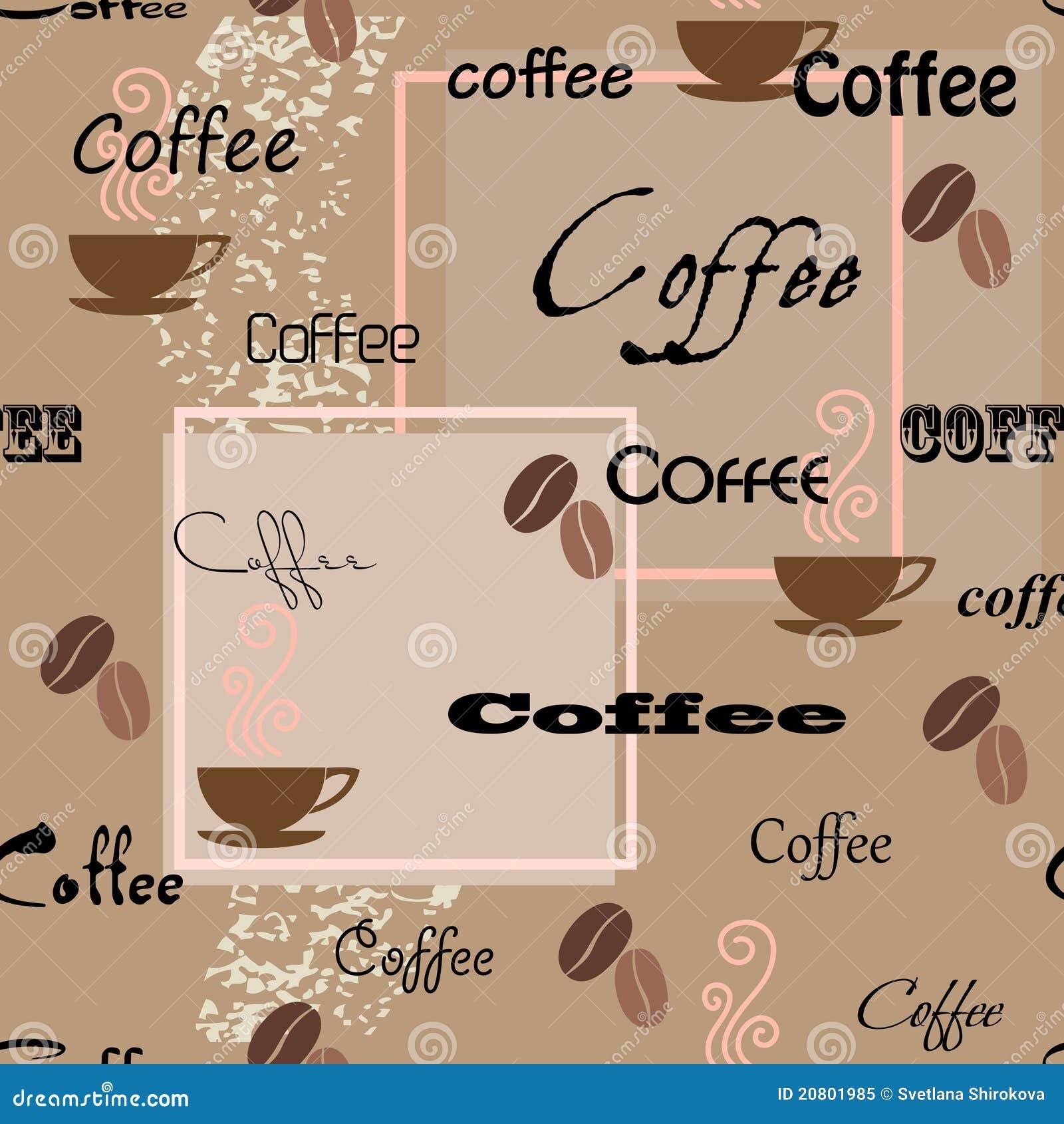 Nahtloses Muster des Kaffees