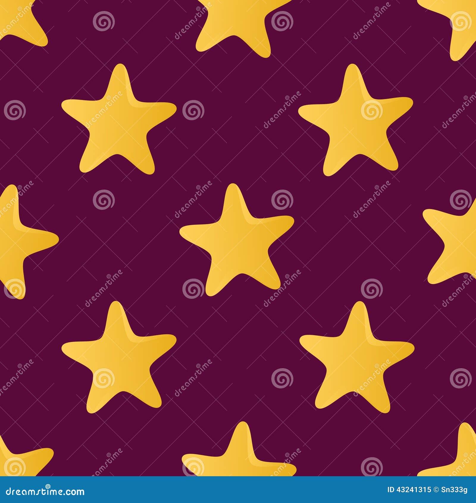 Nahtloses Muster des netten Vektors (Tiling) gemacht von den Sternen