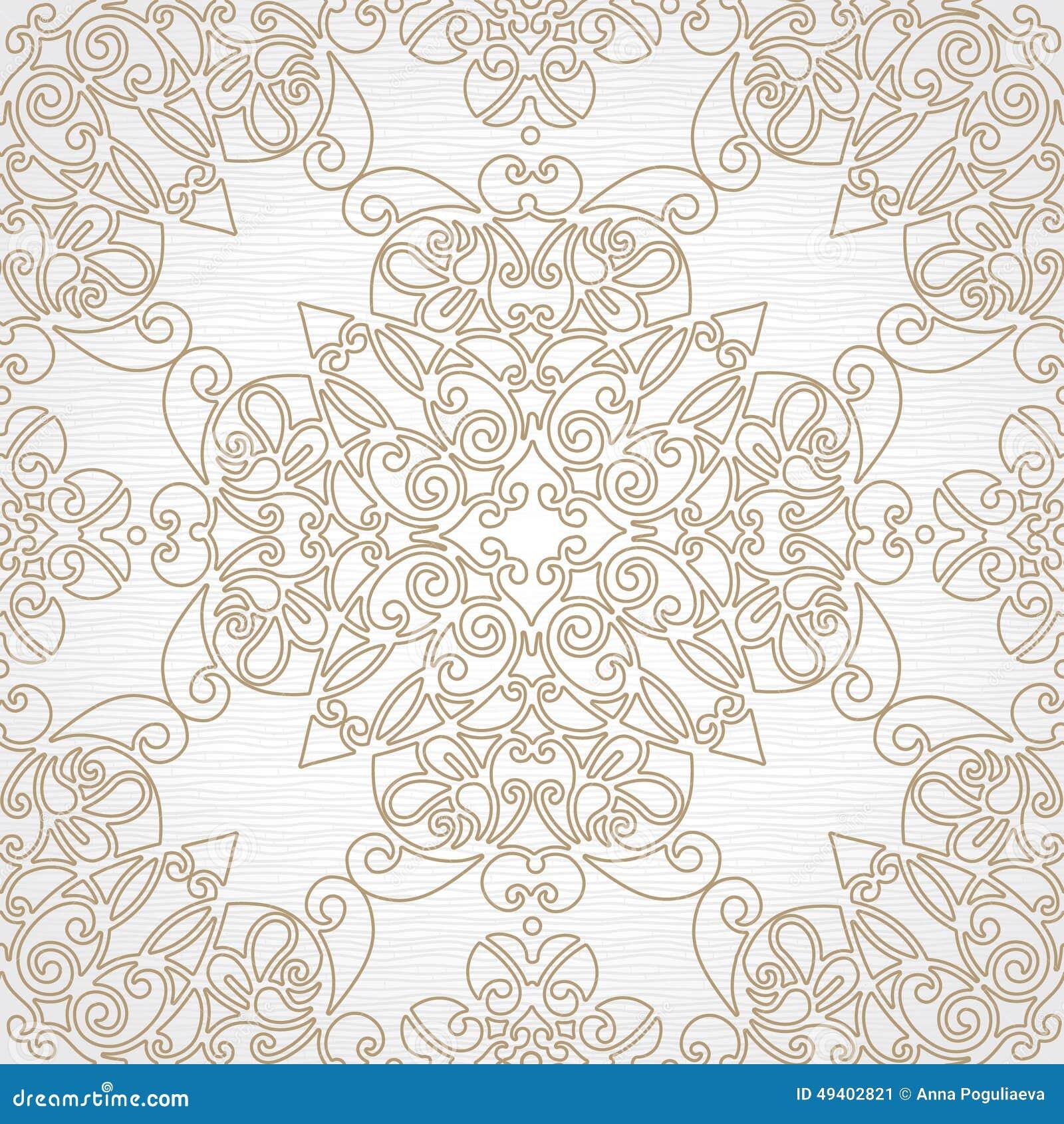 Download Nahtloses Muster Des Vektors In Der Ostart Vektor Abbildung - Illustration von marokkanisch, hintergrund: 49402821