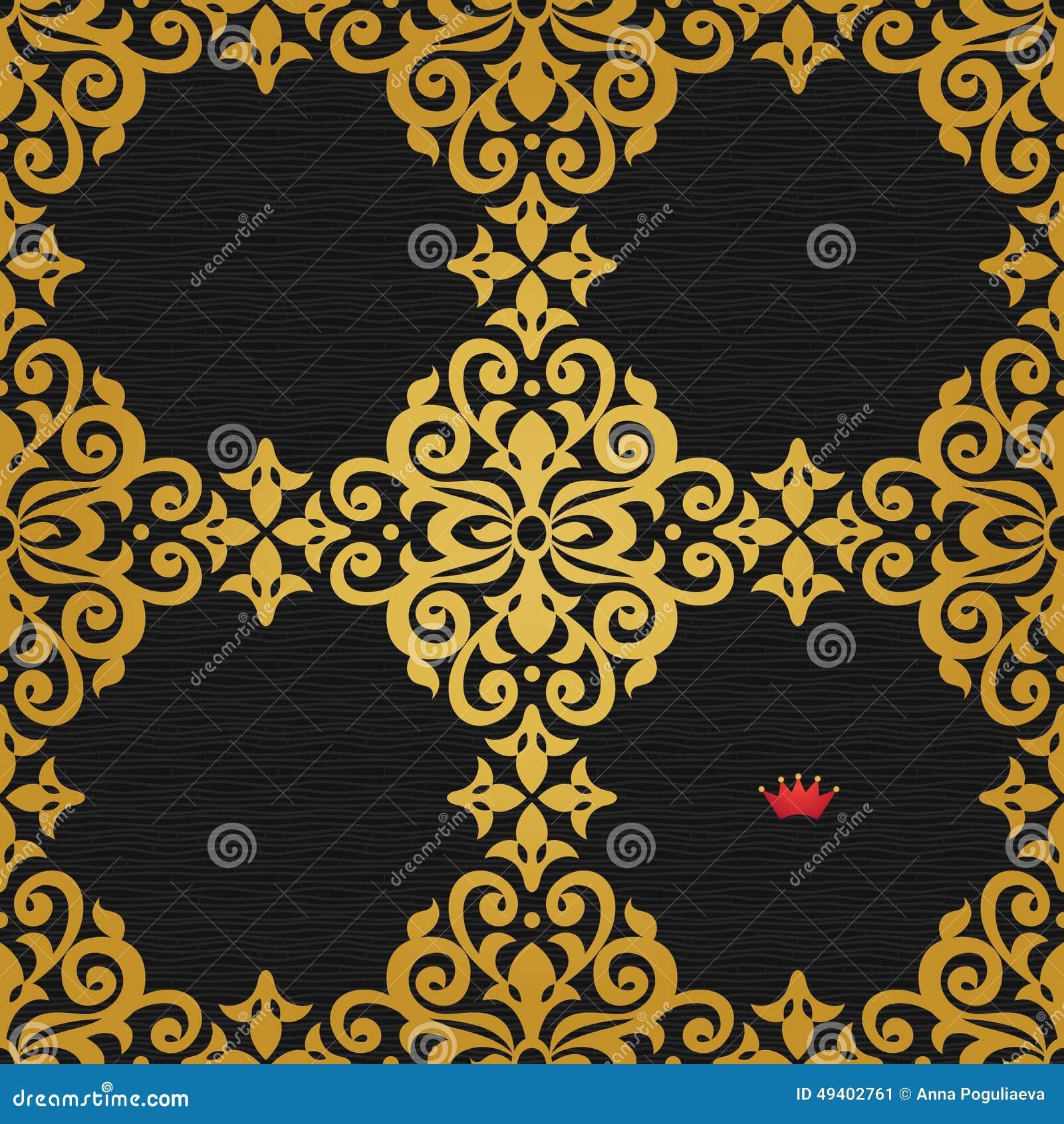 Download Nahtloses Muster Des Vektors Im Viktorianischen Stil Vektor Abbildung - Illustration von barock, klassisch: 49402761