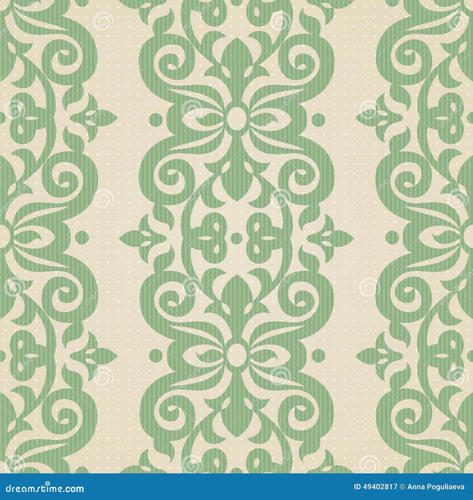 Download Nahtloses Muster Des Vektors Im Viktorianischen Stil Vektor Abbildung - Illustration von stickerei, kurve: 49402817