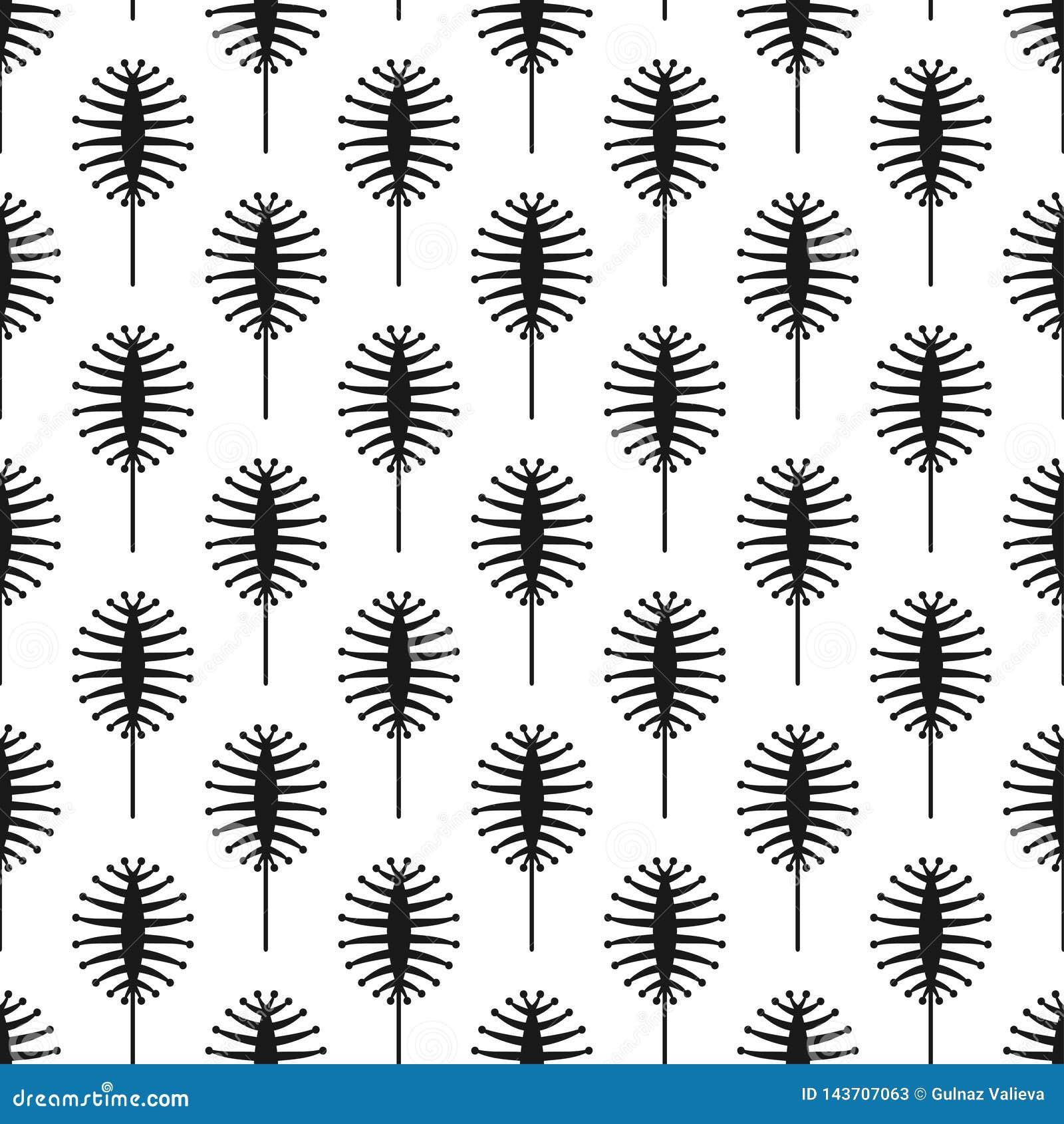 Nahtloses Muster des Vektors mit abstrakten Wanzen