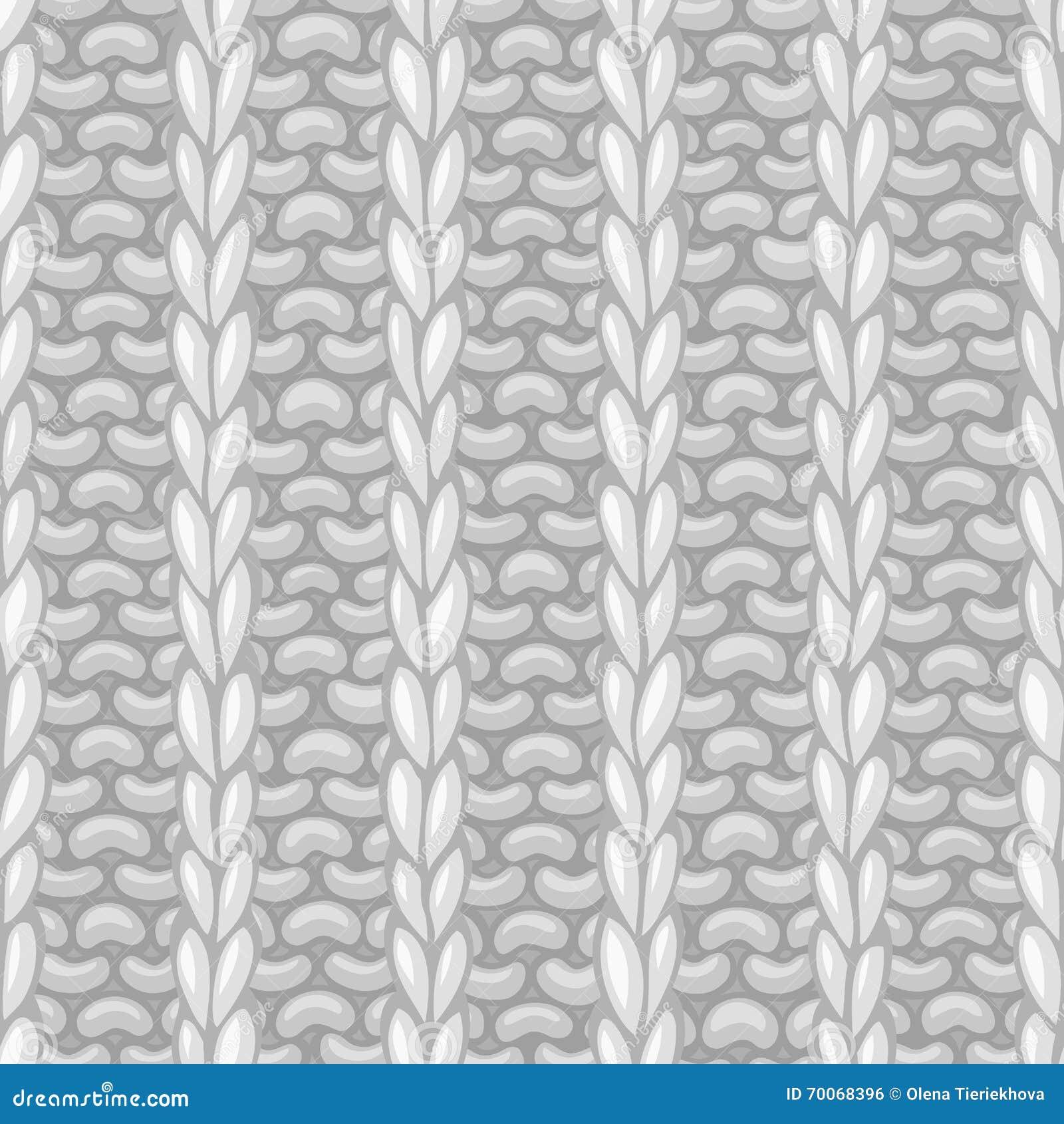 Nahtloses Muster des Vektors in strickender Art