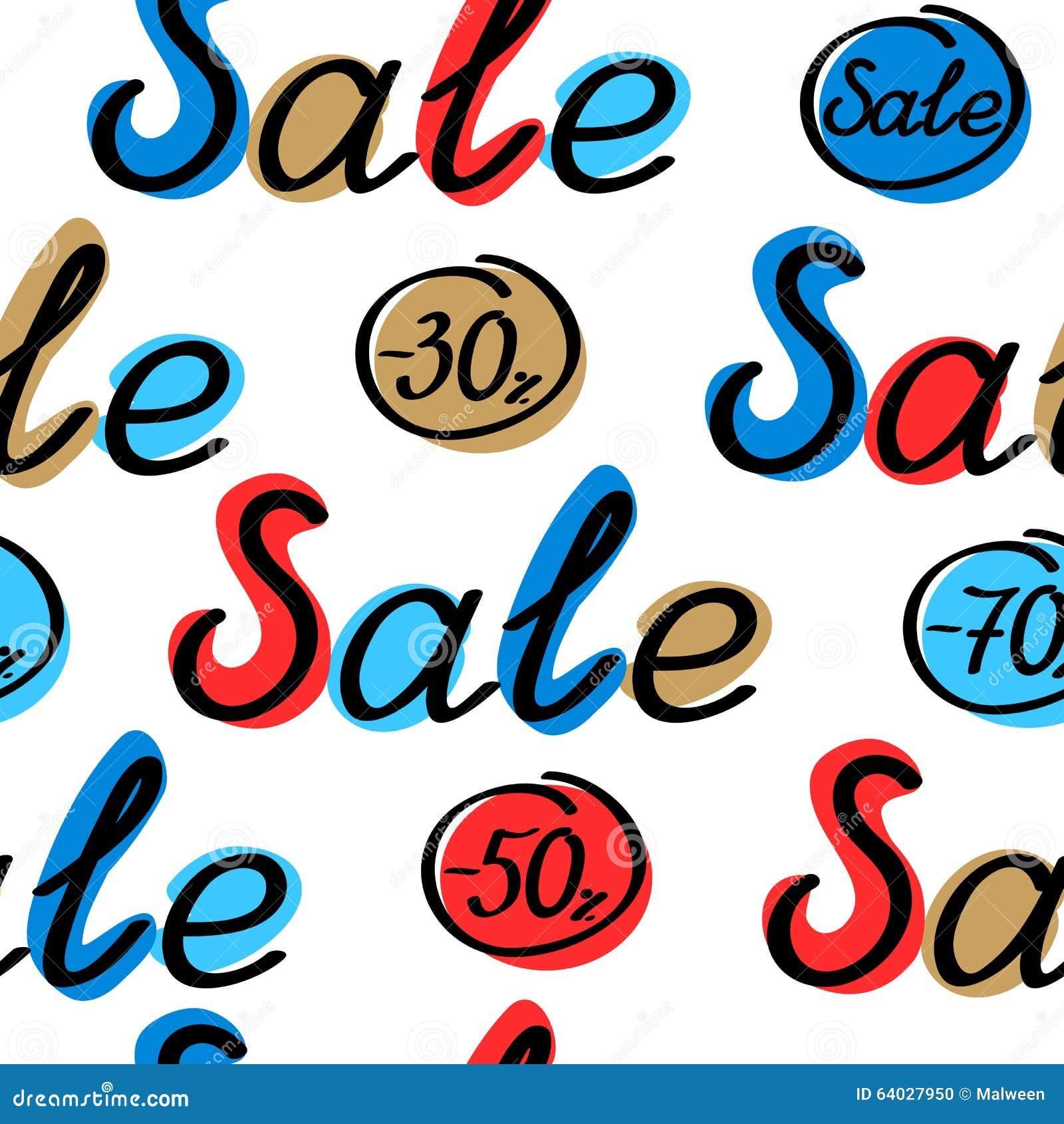 Nahtloses Muster des Verkaufs