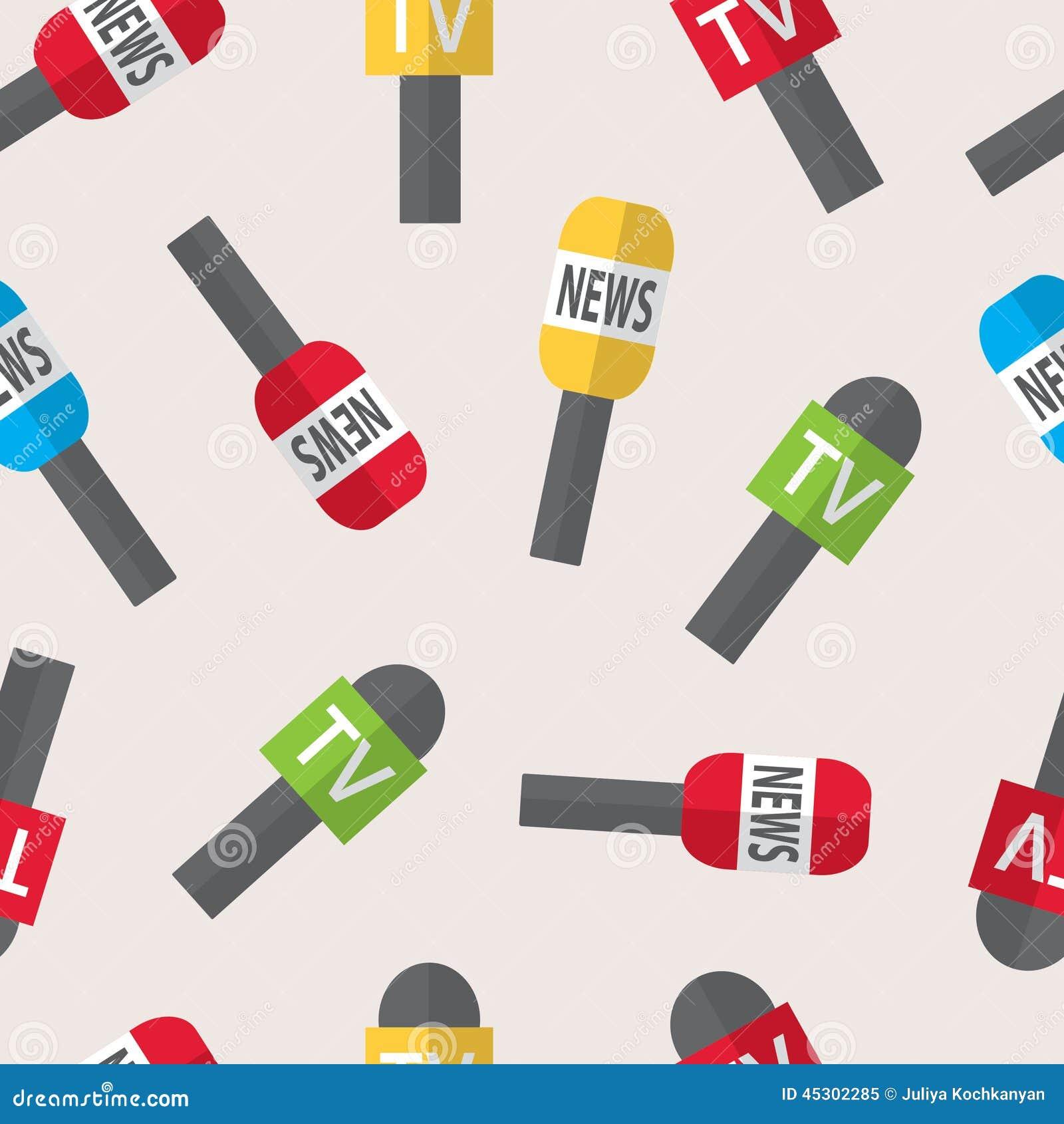 Nahtloses Muster - Journalismus, Livenachrichten, Nachrichten der Welt