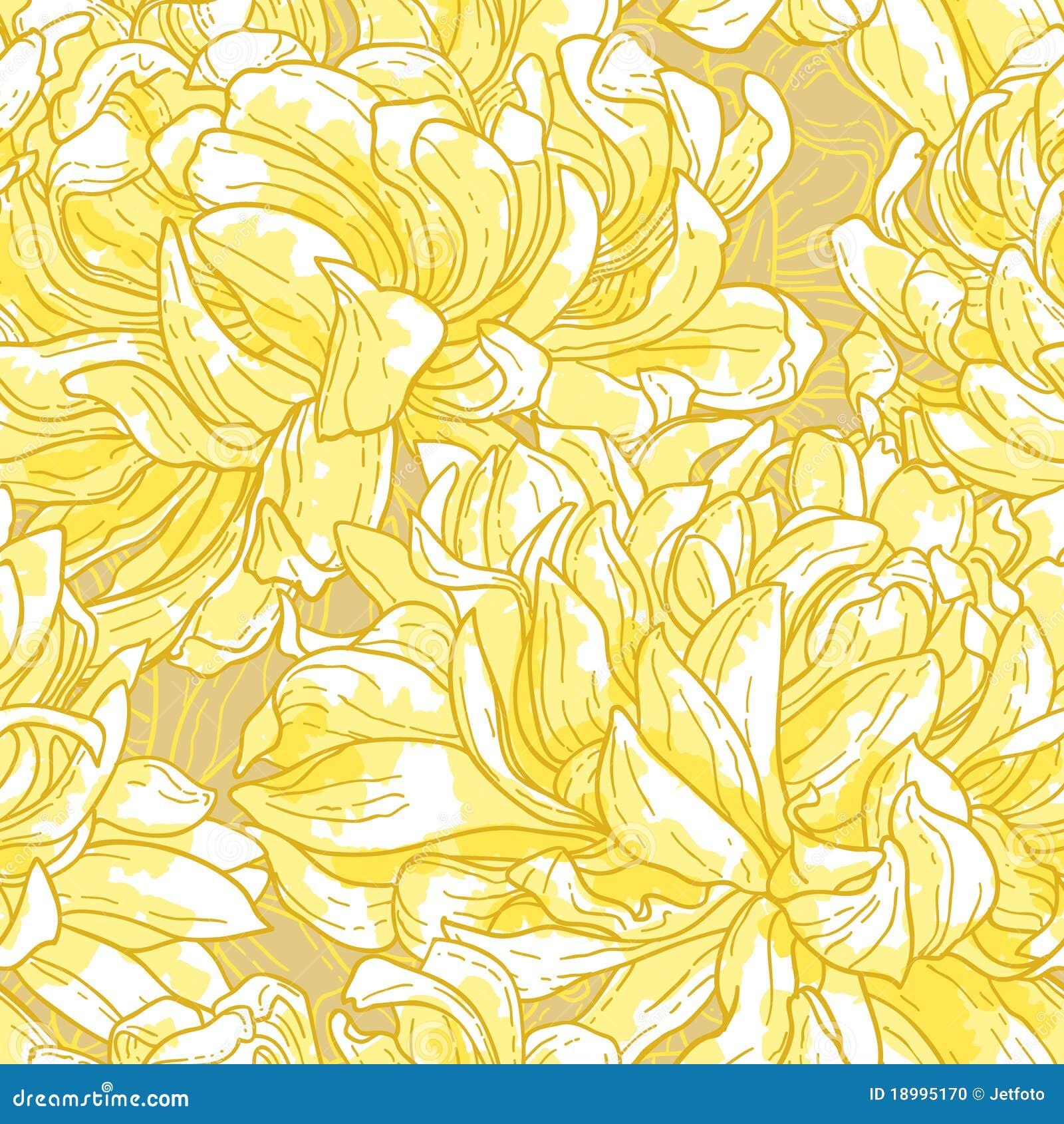 Nahtloses Muster mit Chrysantheme