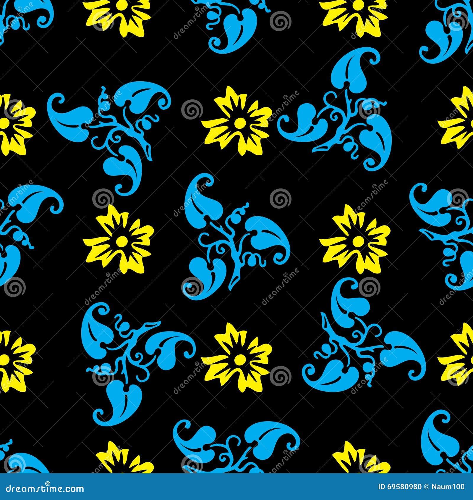 nahtloses muster mit dekorativen blumen vektor abbildung illustration von paisley gewebe. Black Bedroom Furniture Sets. Home Design Ideas