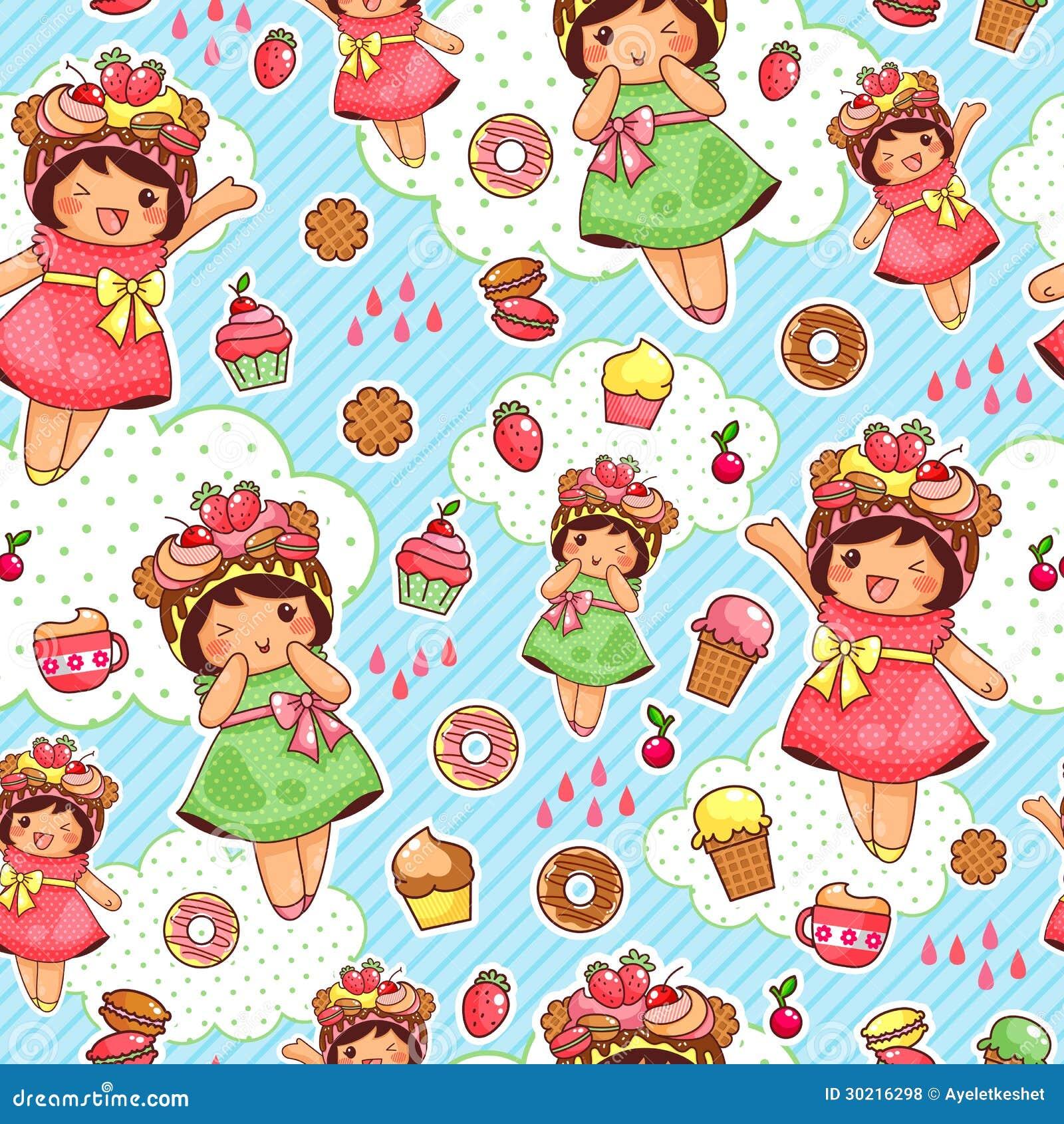 Glückliches süßes Muster