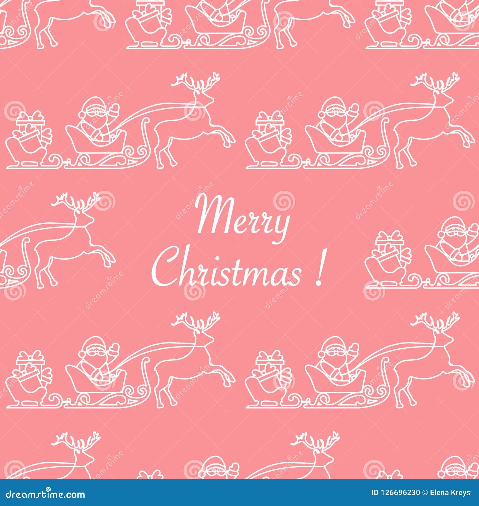 Weihnachten Geschenke 2019.Nahtloses Muster Santa Claus Geschenke Des Weihnachten 2019 Vektor